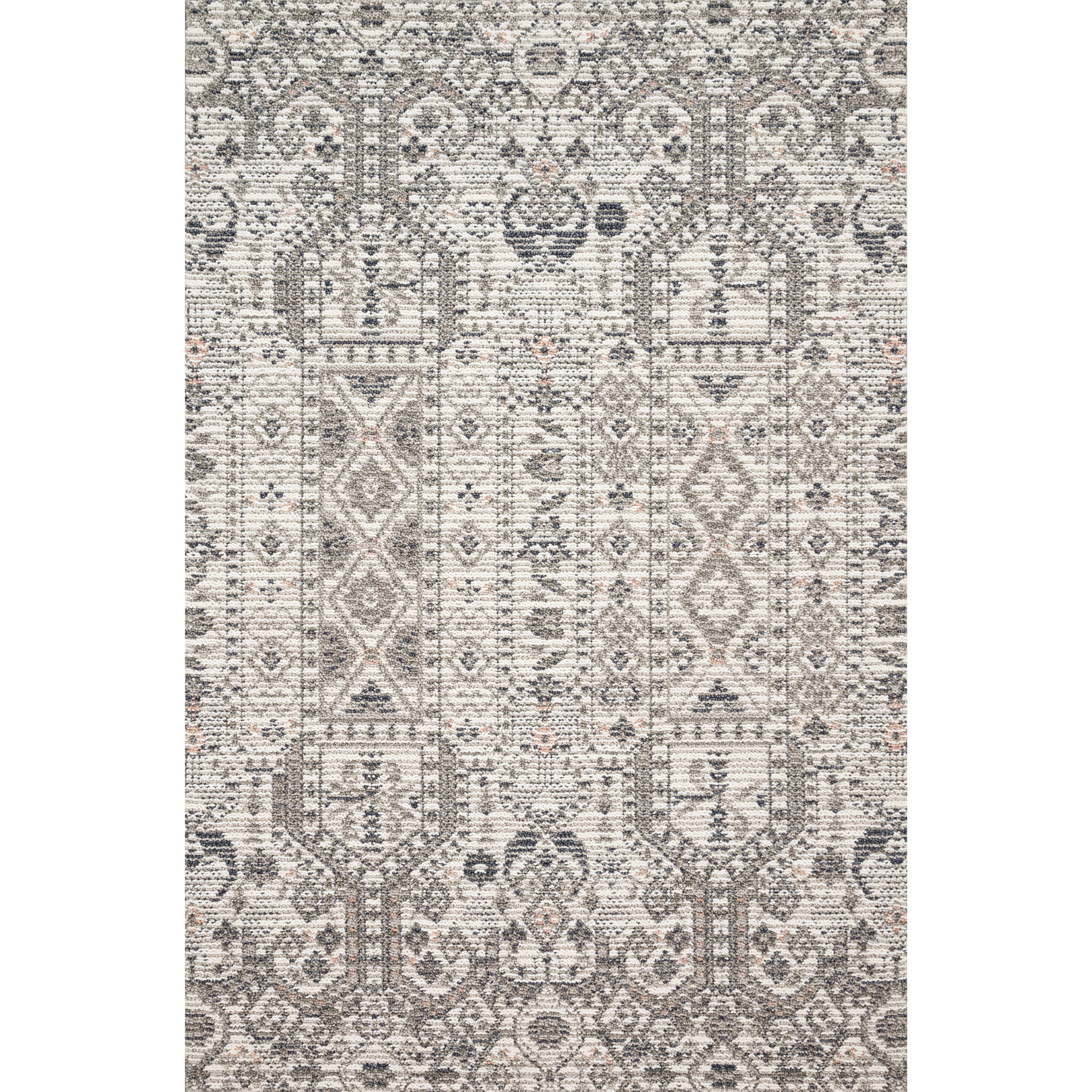 """Cole 5'0"""" x 7'6"""" Ivory / Multi Rug by Loloi Rugs at Virginia Furniture Market"""