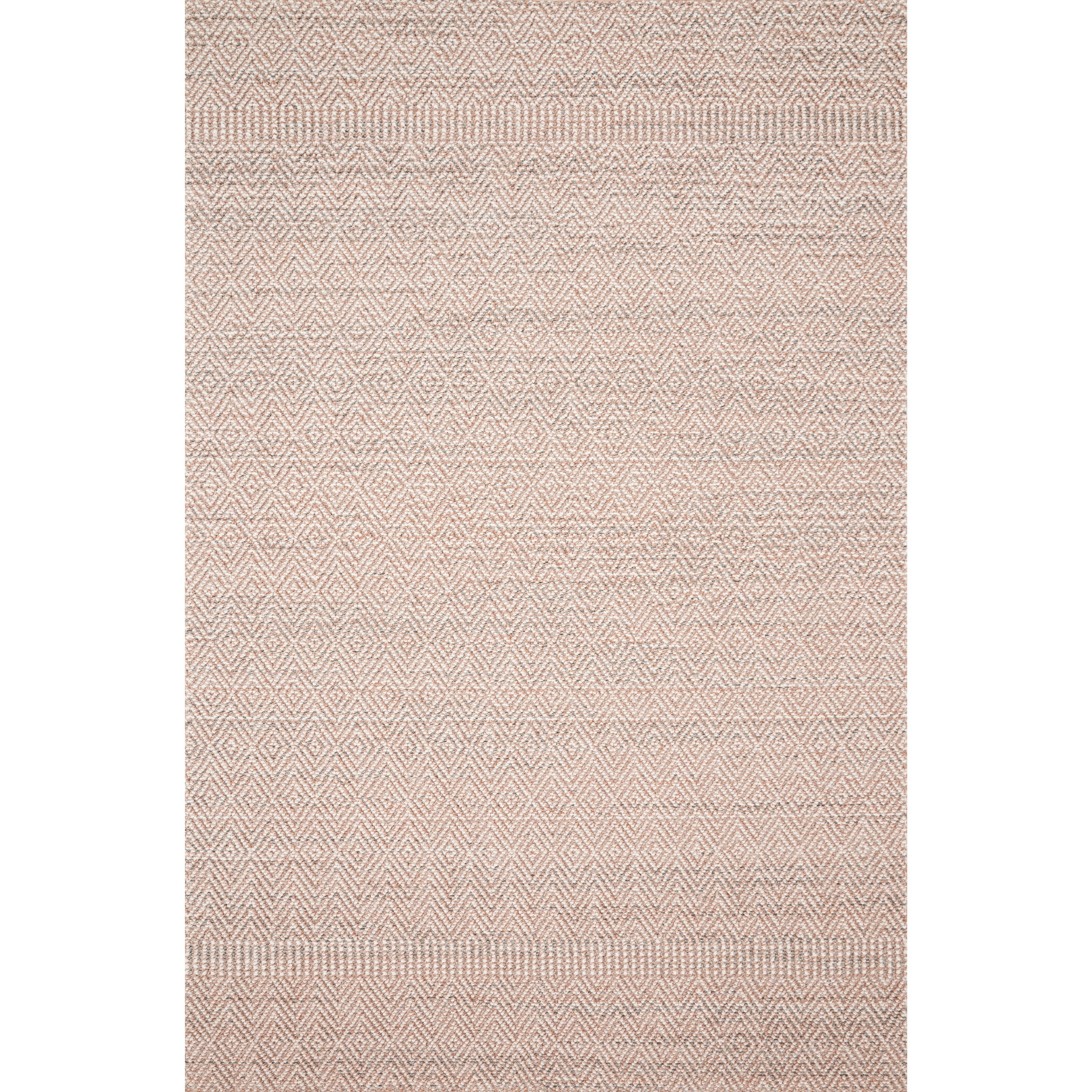 """Cole 4'0"""" x 5'9"""" Blush / Ivory Rug by Loloi Rugs at Virginia Furniture Market"""