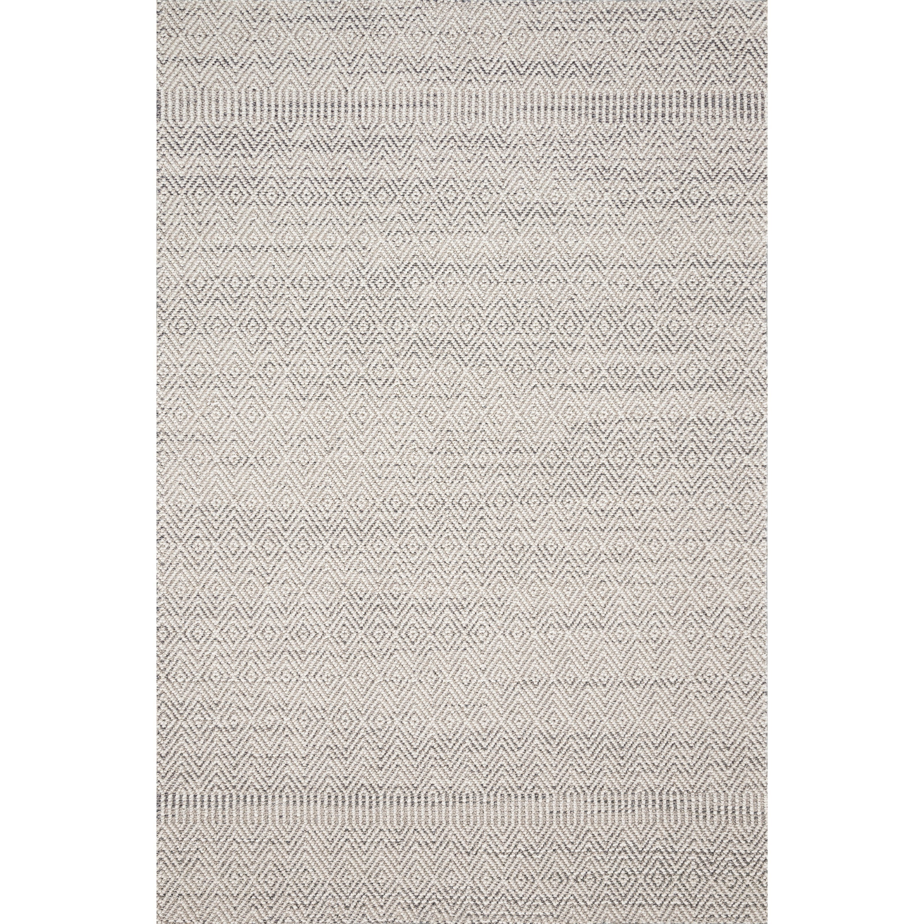 """Cole 1'6"""" x 1'6""""  Grey / Bone Rug by Loloi Rugs at Virginia Furniture Market"""