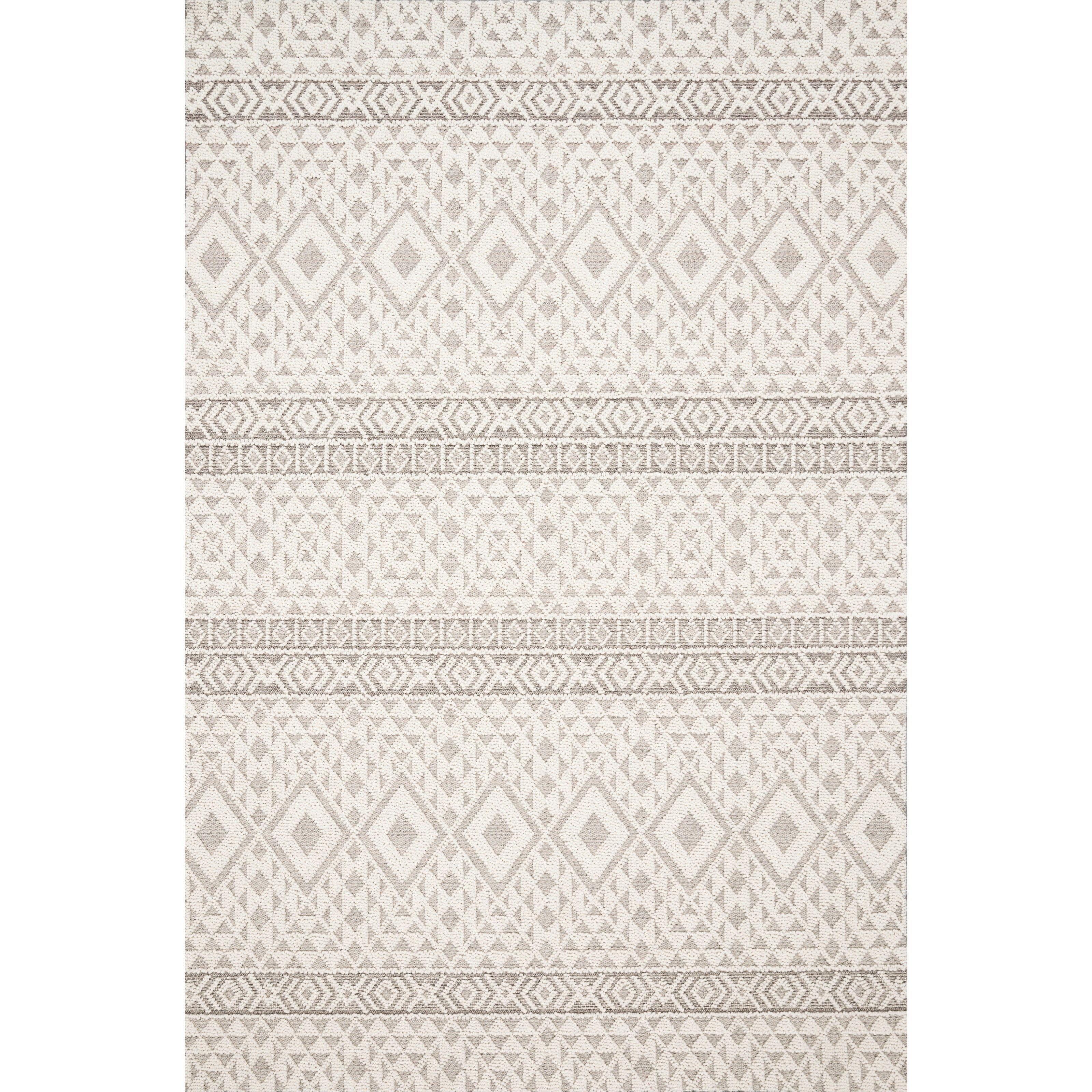 "Cole 6'7"" x 9'4"" Silver / Ivory Rug by Loloi Rugs at Sprintz Furniture"