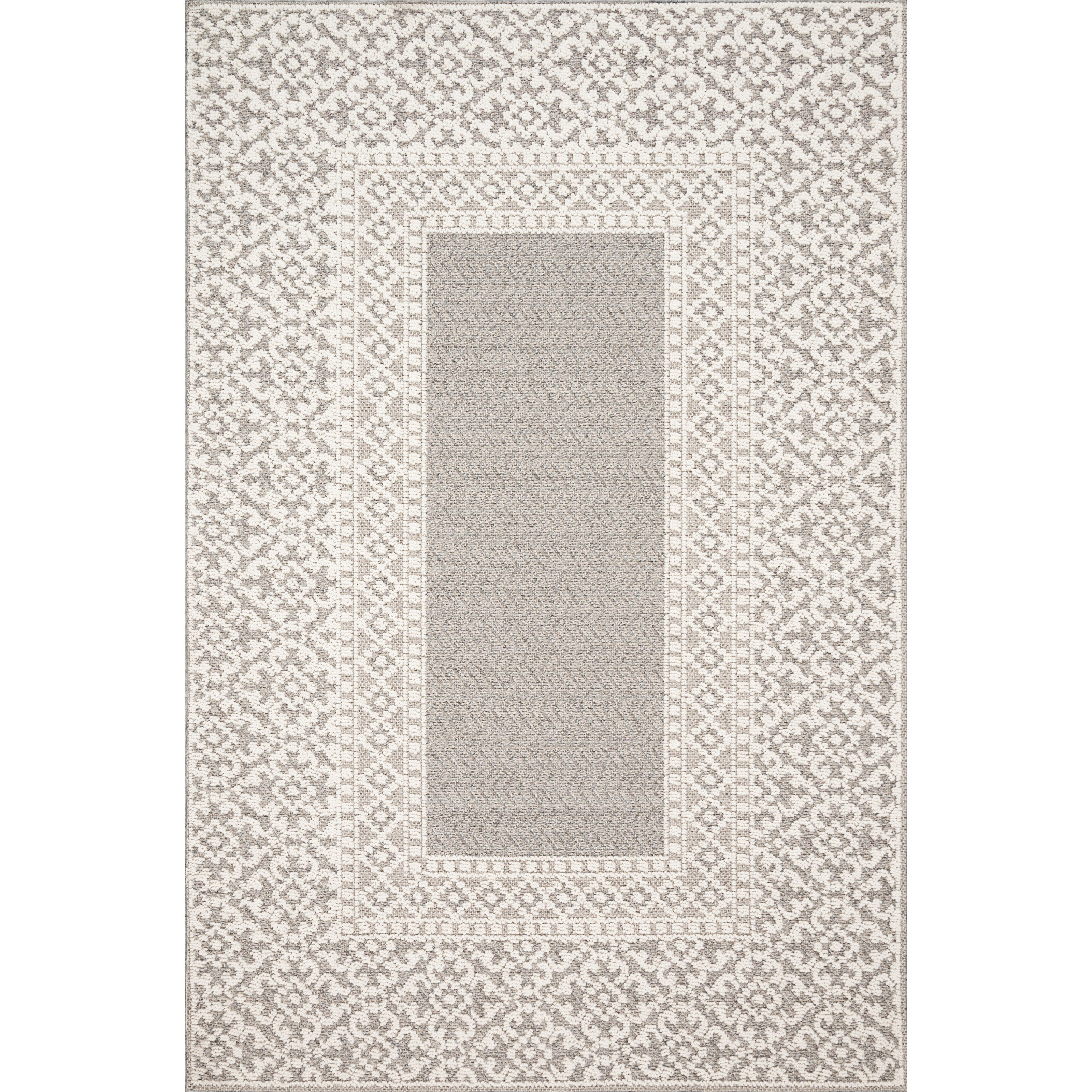 "Cole 7'10"" x 10'1"" Grey / Ivory Rug by Loloi Rugs at Sprintz Furniture"