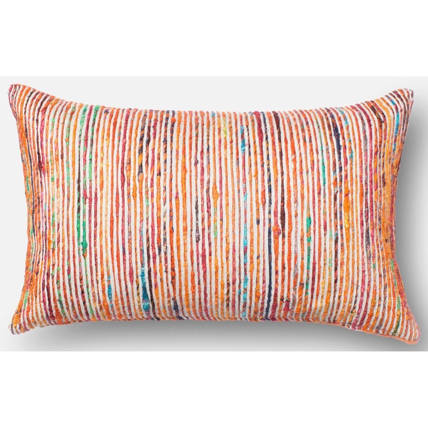 "Dhurri Style 13"" X 21"" Down Pillow by Loloi Rugs at Sprintz Furniture"