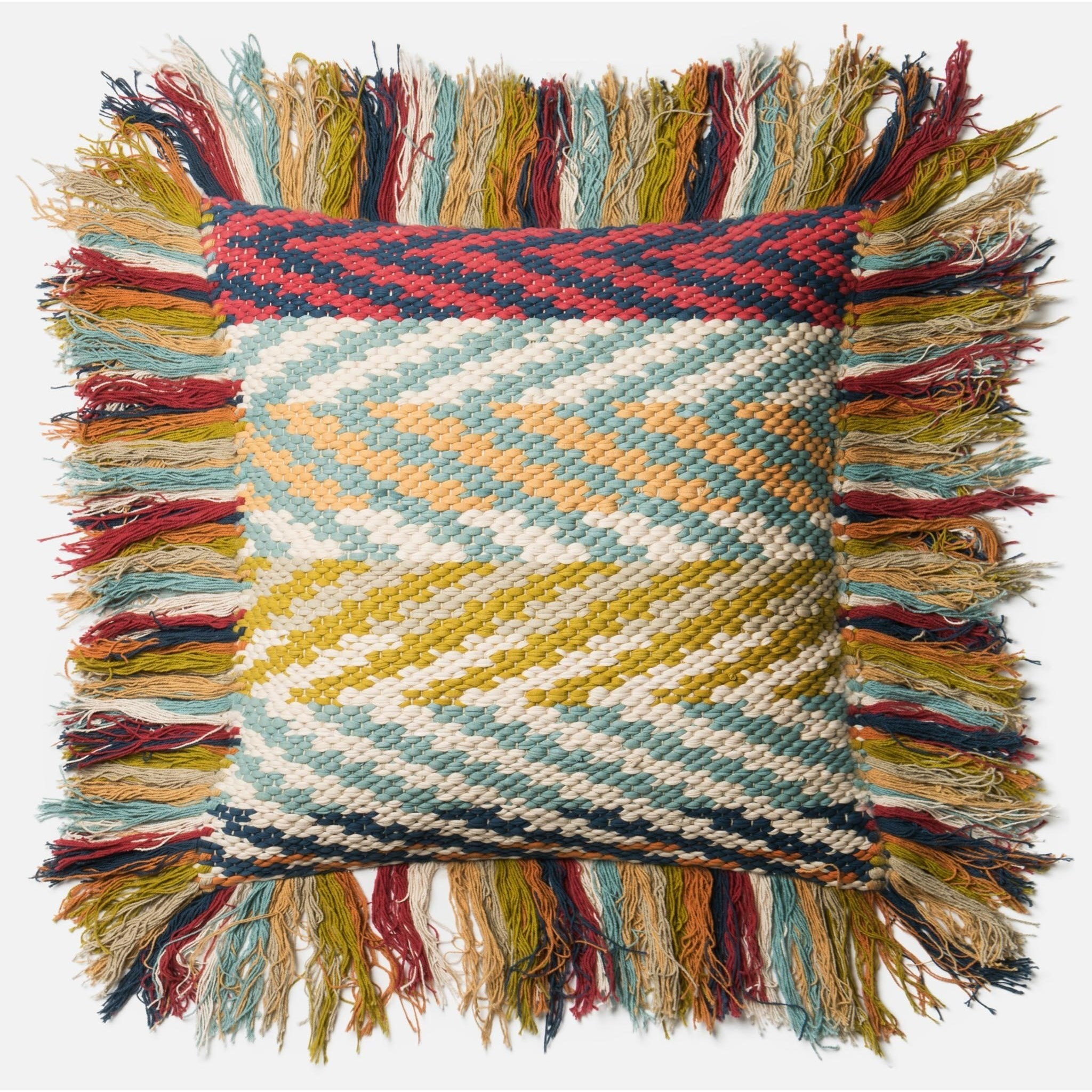 """Dhurri Style 22"""" X 22"""" Down Pillow by Loloi Rugs at Story & Lee Furniture"""