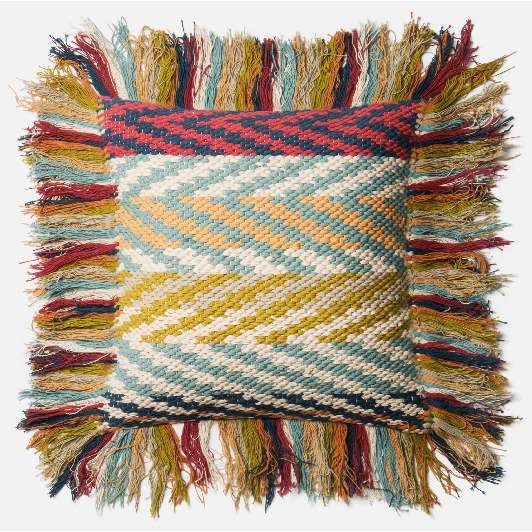 "Dhurri Style 22"" X 22"" Down Pillow by Loloi Rugs at Pedigo Furniture"