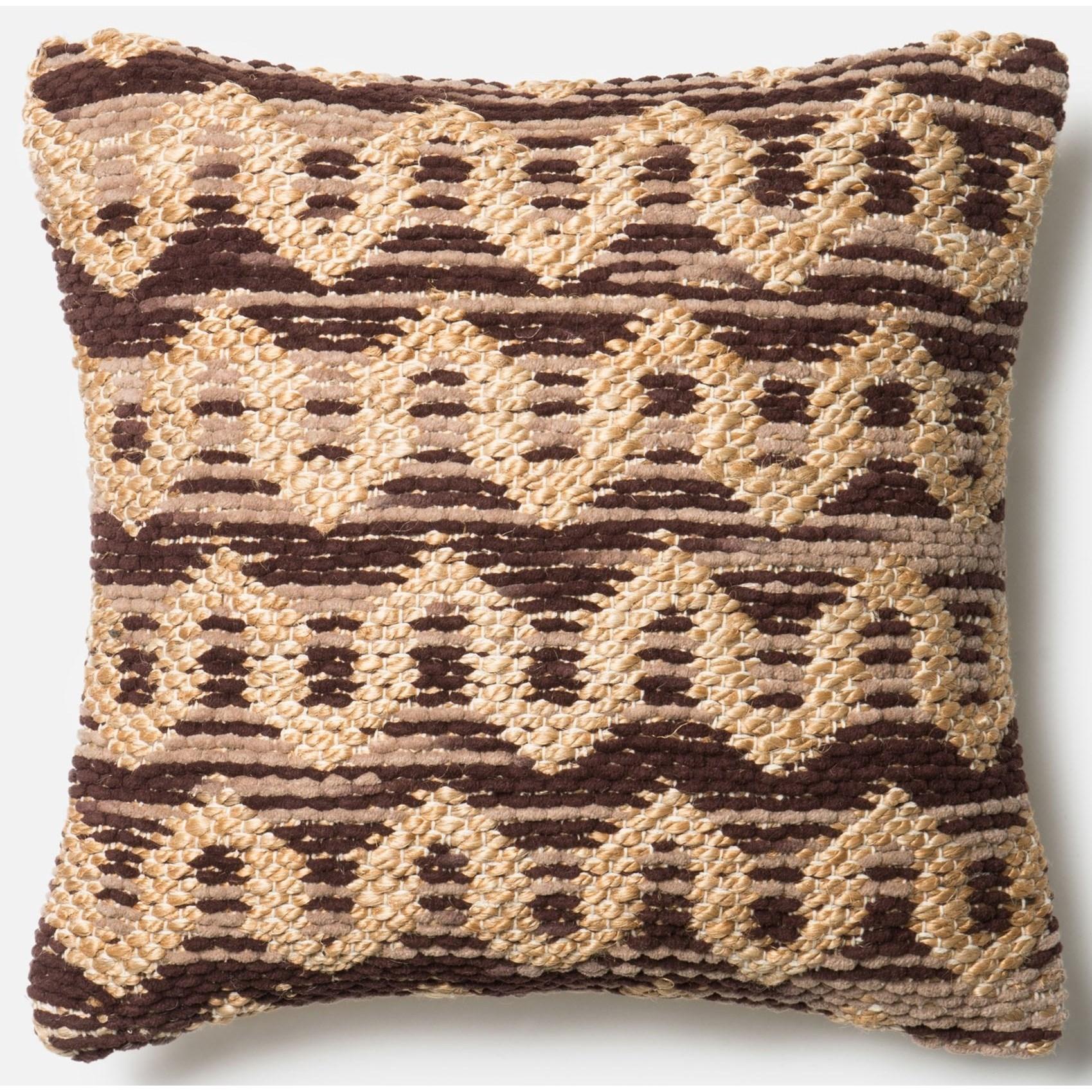"Dhurri Style 22"" X 22"" Down Pillow by Loloi Rugs at Sprintz Furniture"