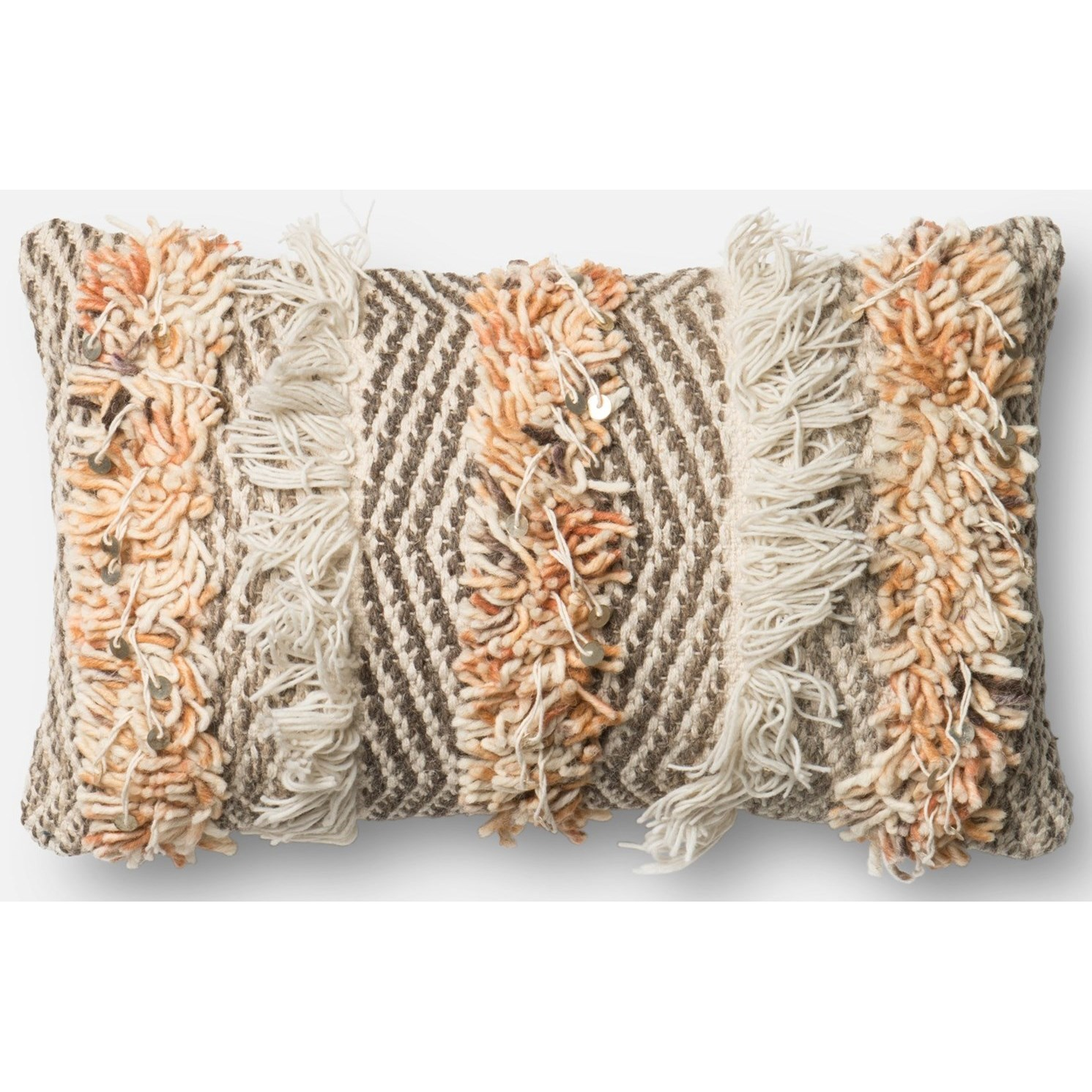 """Dhurri Style 13"""" X 21"""" Down Pillow by Loloi Rugs at Virginia Furniture Market"""