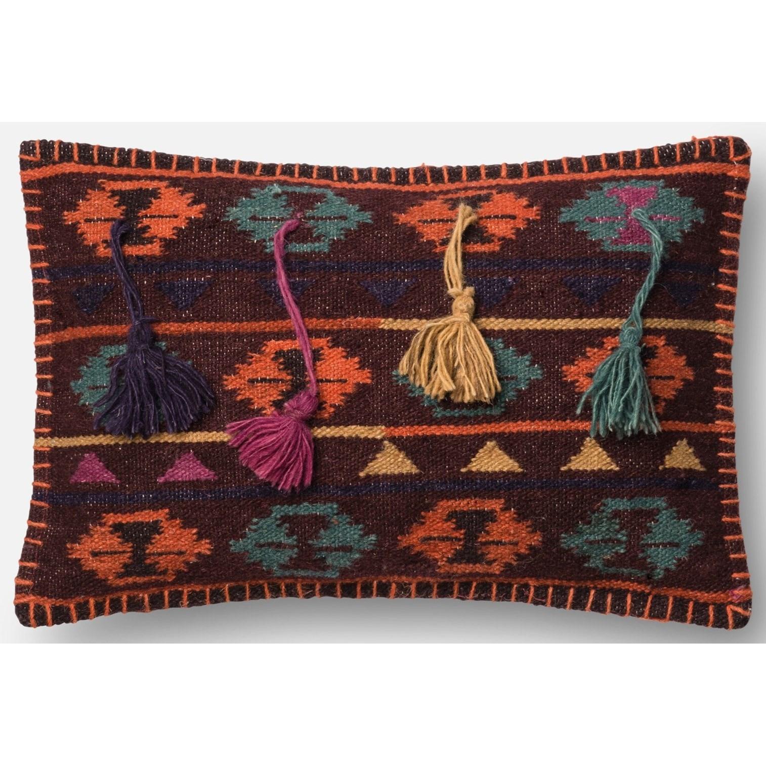 "Dhurri Style 13"" X 21"" Down Pillow by Loloi Rugs at Pedigo Furniture"