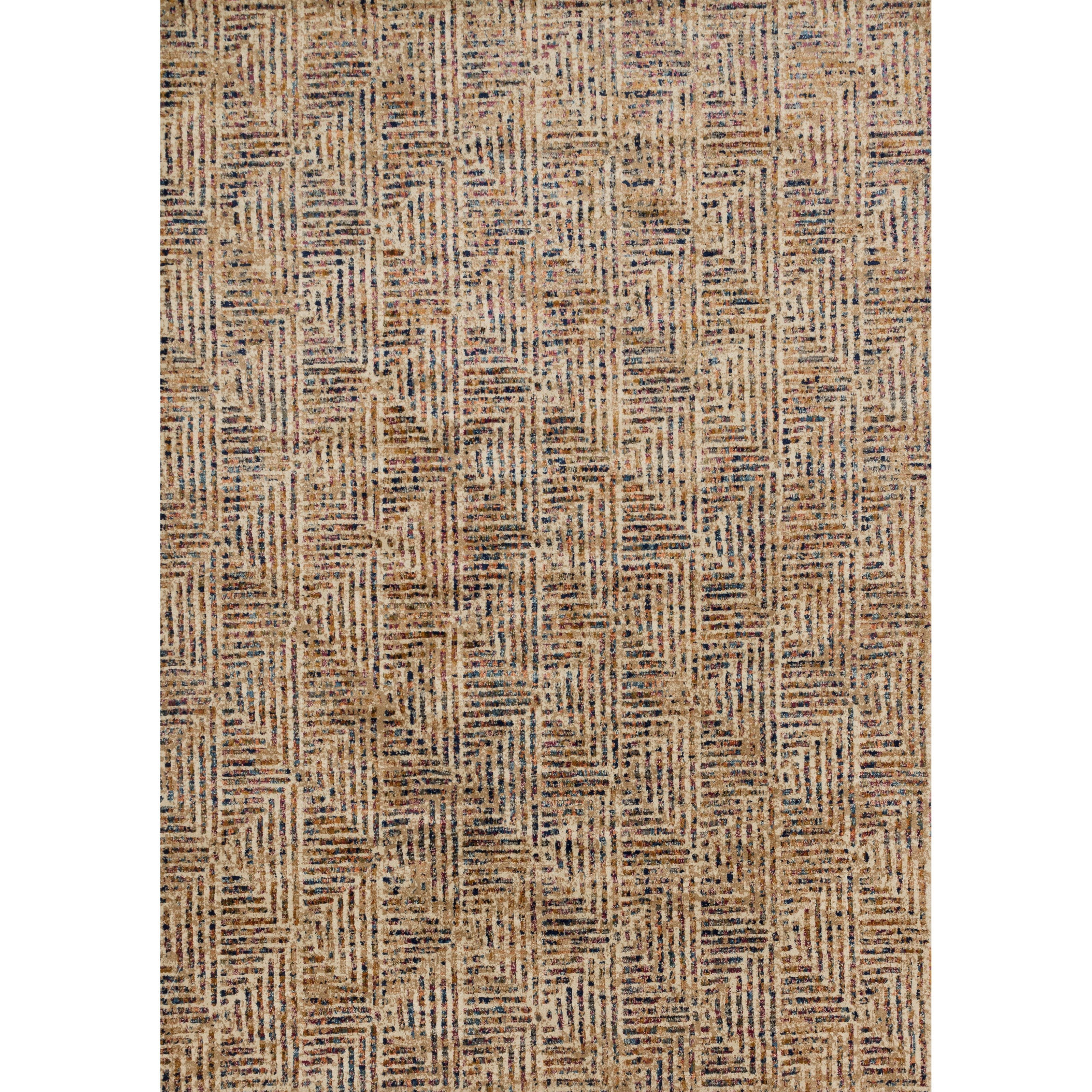 """DREAMSCAPE 1'6"""" x 1'6""""  Ivory / Multi Rug by Loloi Rugs at Virginia Furniture Market"""