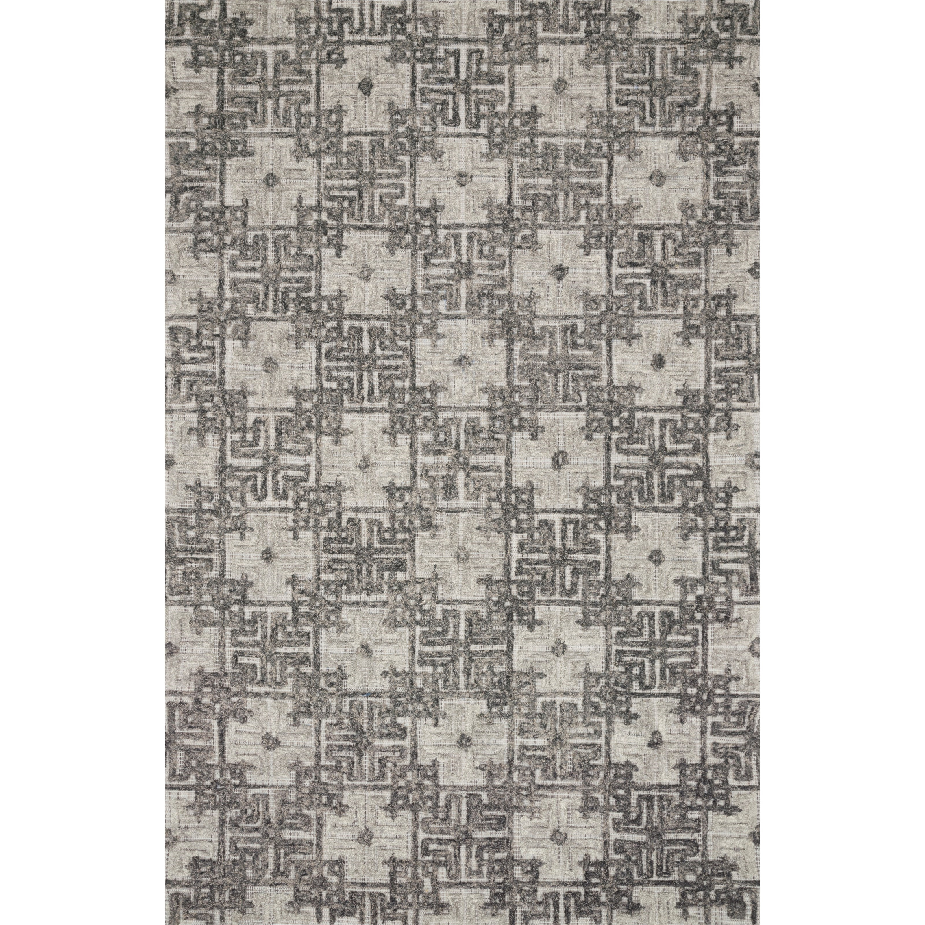 "Ehren 5'0"" x 7'6"" Charcoal / Fog Rug by Loloi Rugs at Pedigo Furniture"