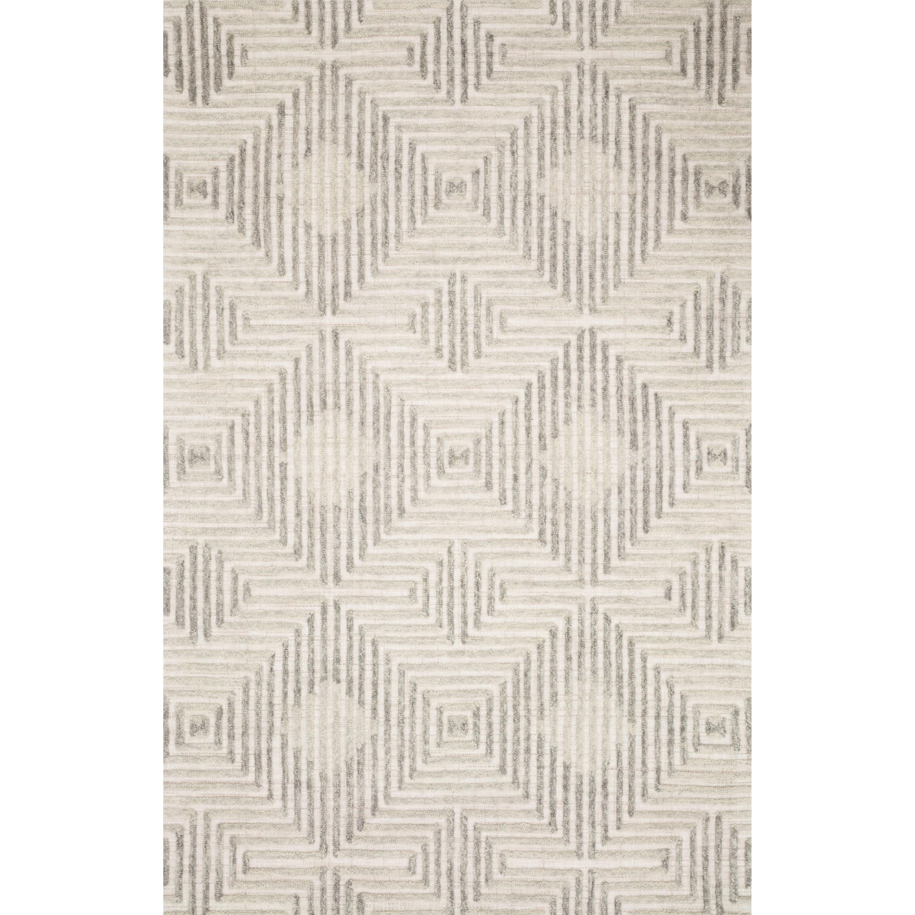 "Ehren 5'0"" x 7'6"" Grey / Silver Rug by Loloi Rugs at Virginia Furniture Market"