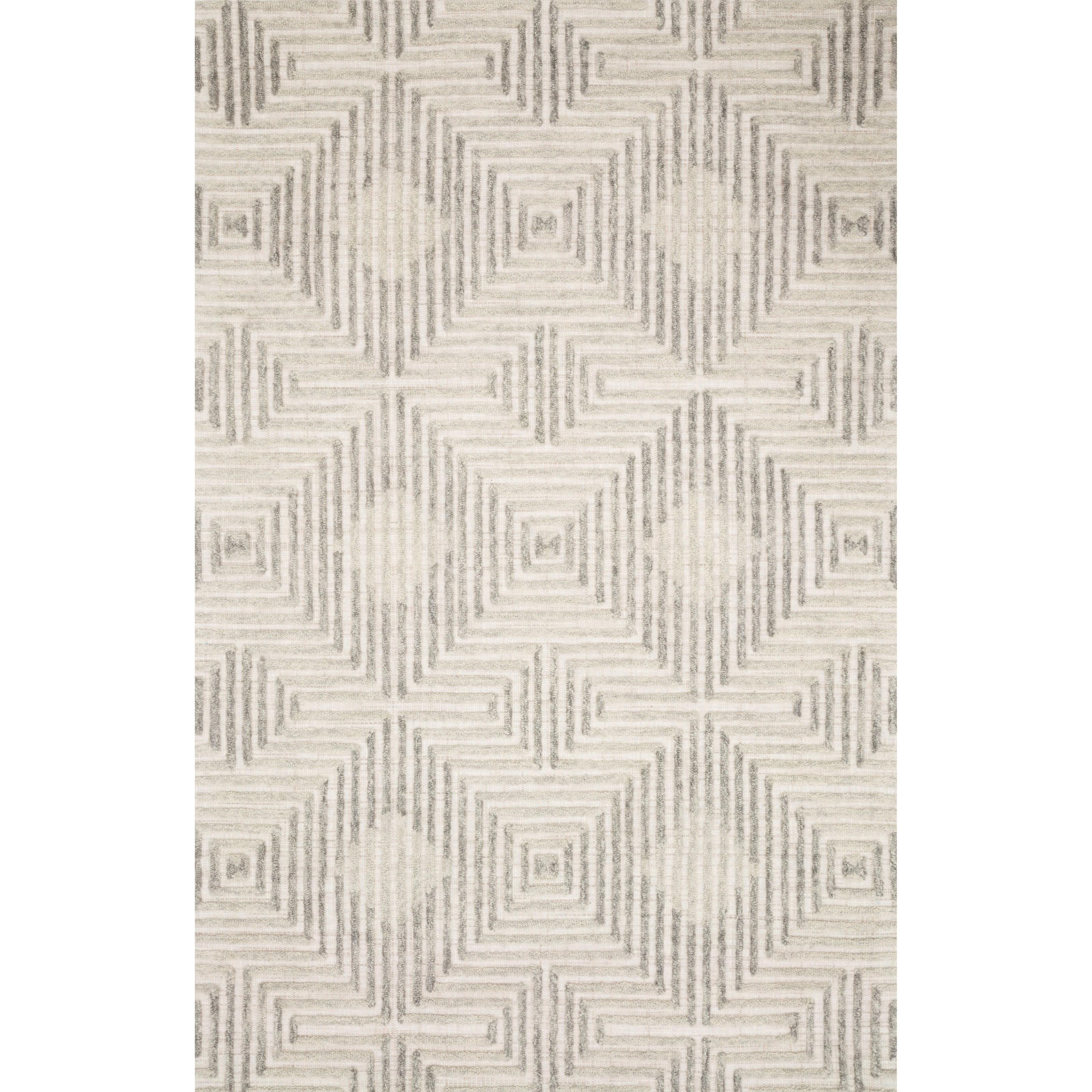 """Ehren 9'3"""" x 13' Grey / Silver Rug by Loloi Rugs at Pedigo Furniture"""