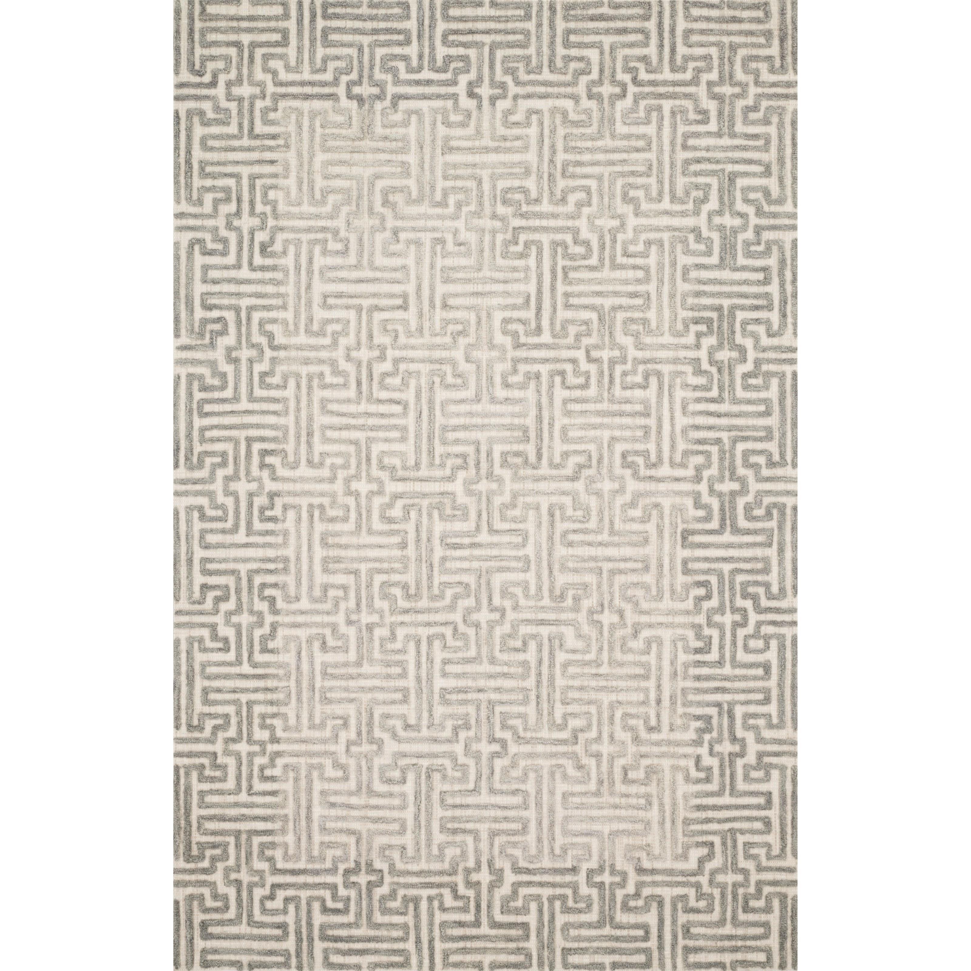 "Ehren 2'3"" x 3'9"" Stone / Sand Rug by Loloi Rugs at Virginia Furniture Market"