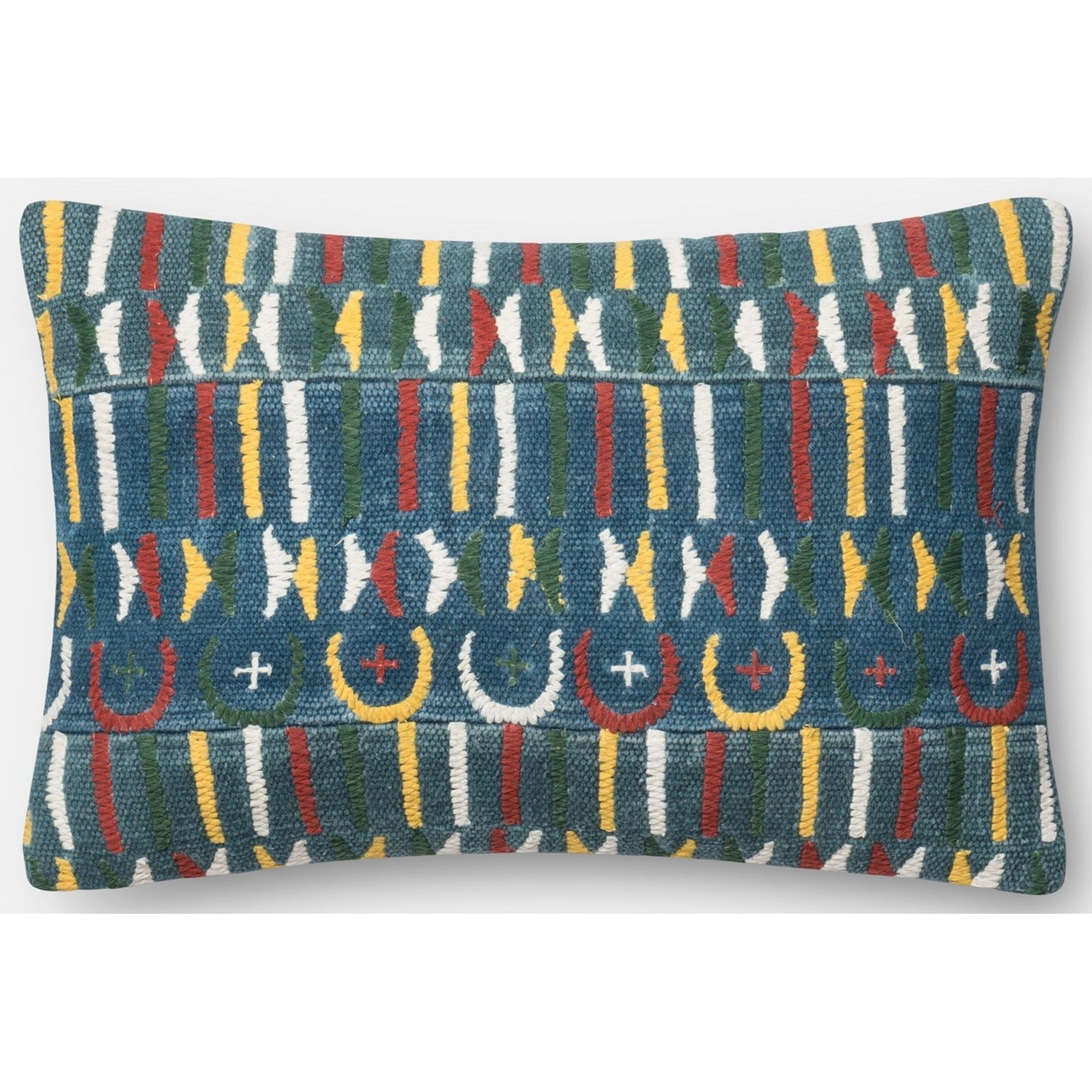 "Embellished 13"" X 21"" Down Pillow by Loloi Rugs at Pedigo Furniture"