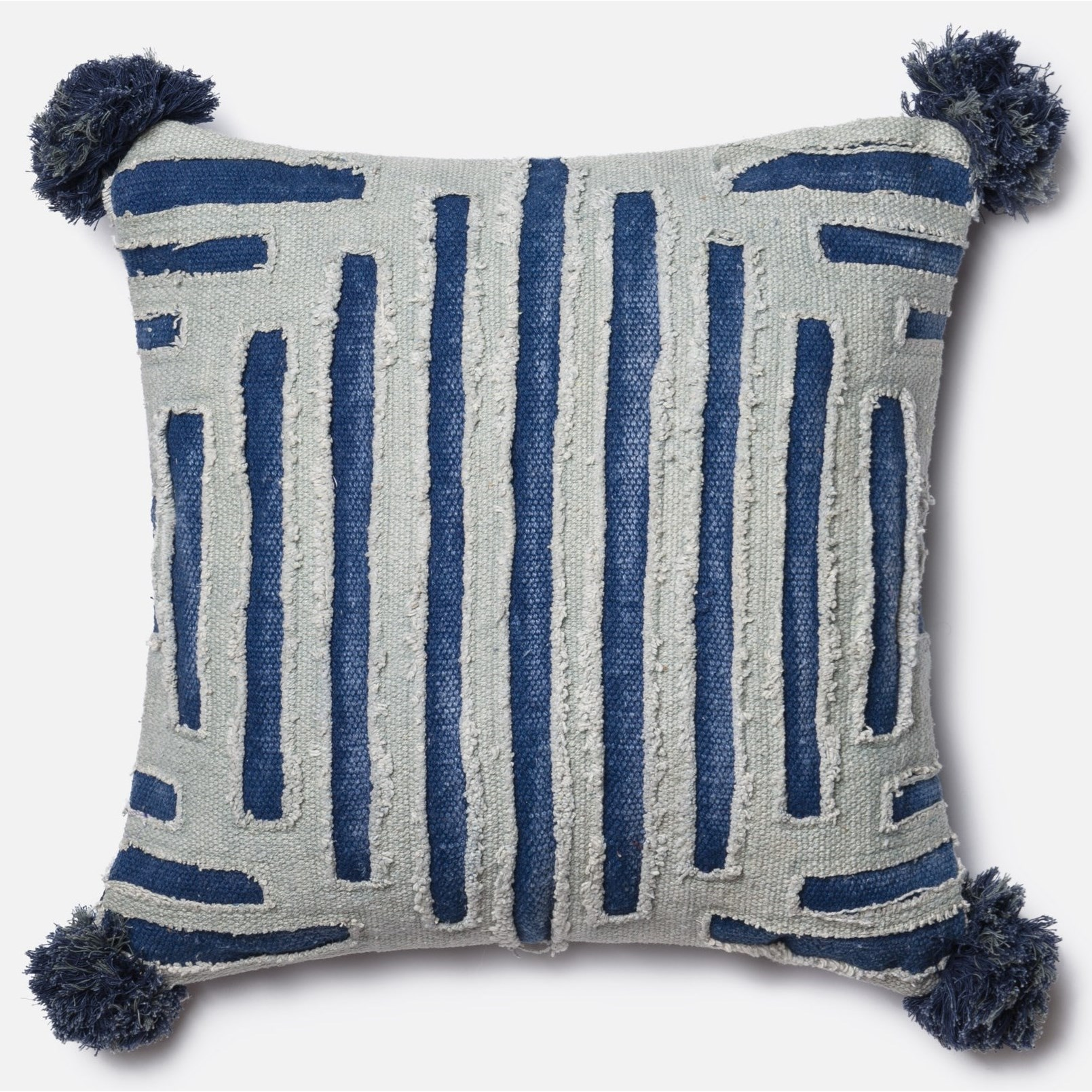 """Embellished 18"""" X 18"""" Down Pillow by Loloi Rugs at Virginia Furniture Market"""