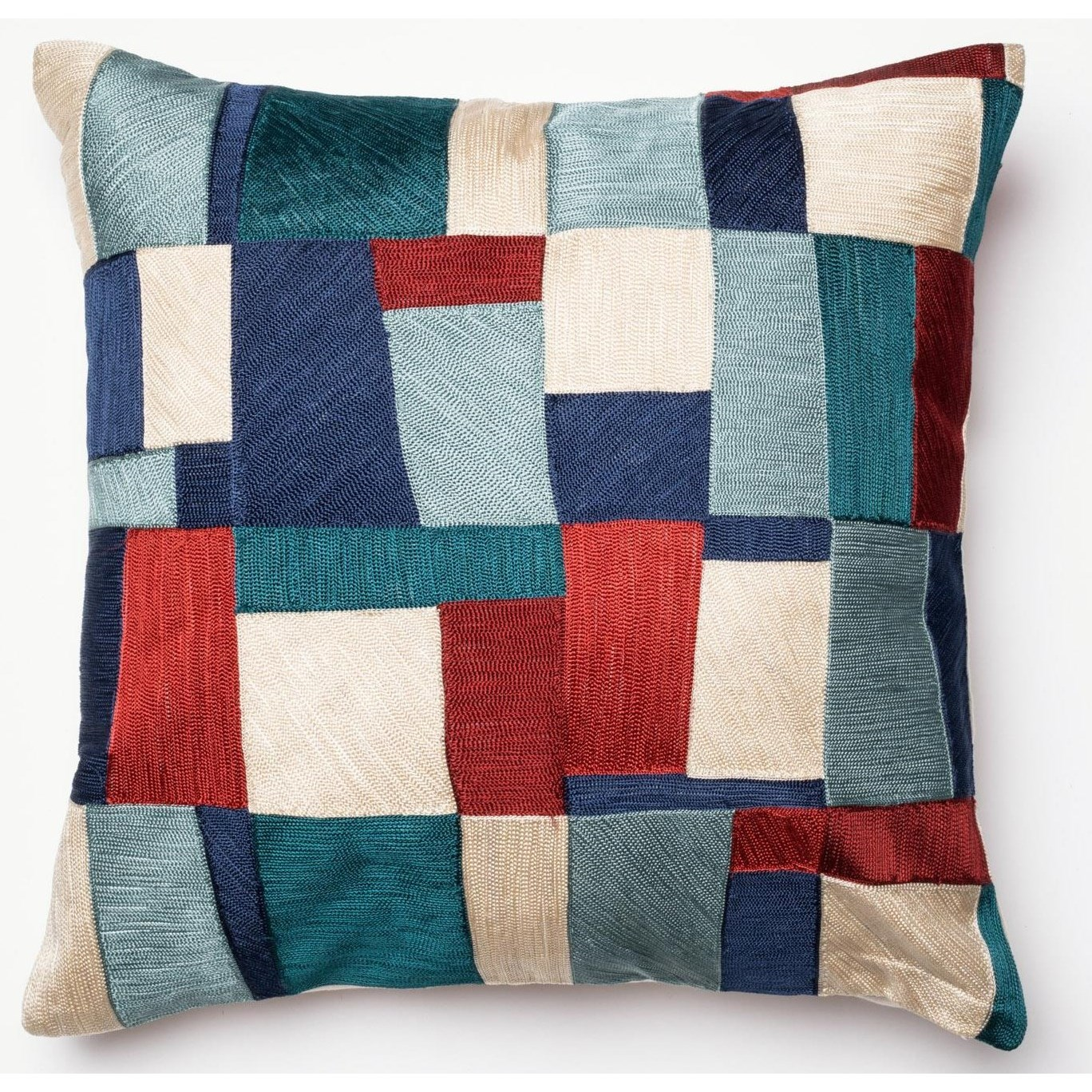 """Embroidery 18"""" X 18"""" Down Pillow by Loloi Rugs at Virginia Furniture Market"""