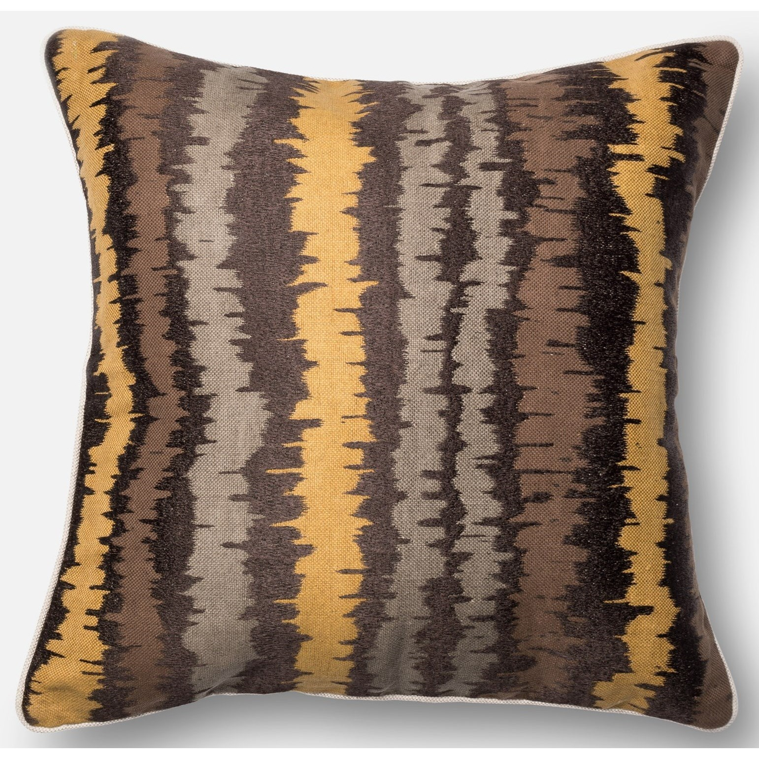 """Embroidery 22"""" X 22"""" Down Pillow by Loloi Rugs at Virginia Furniture Market"""