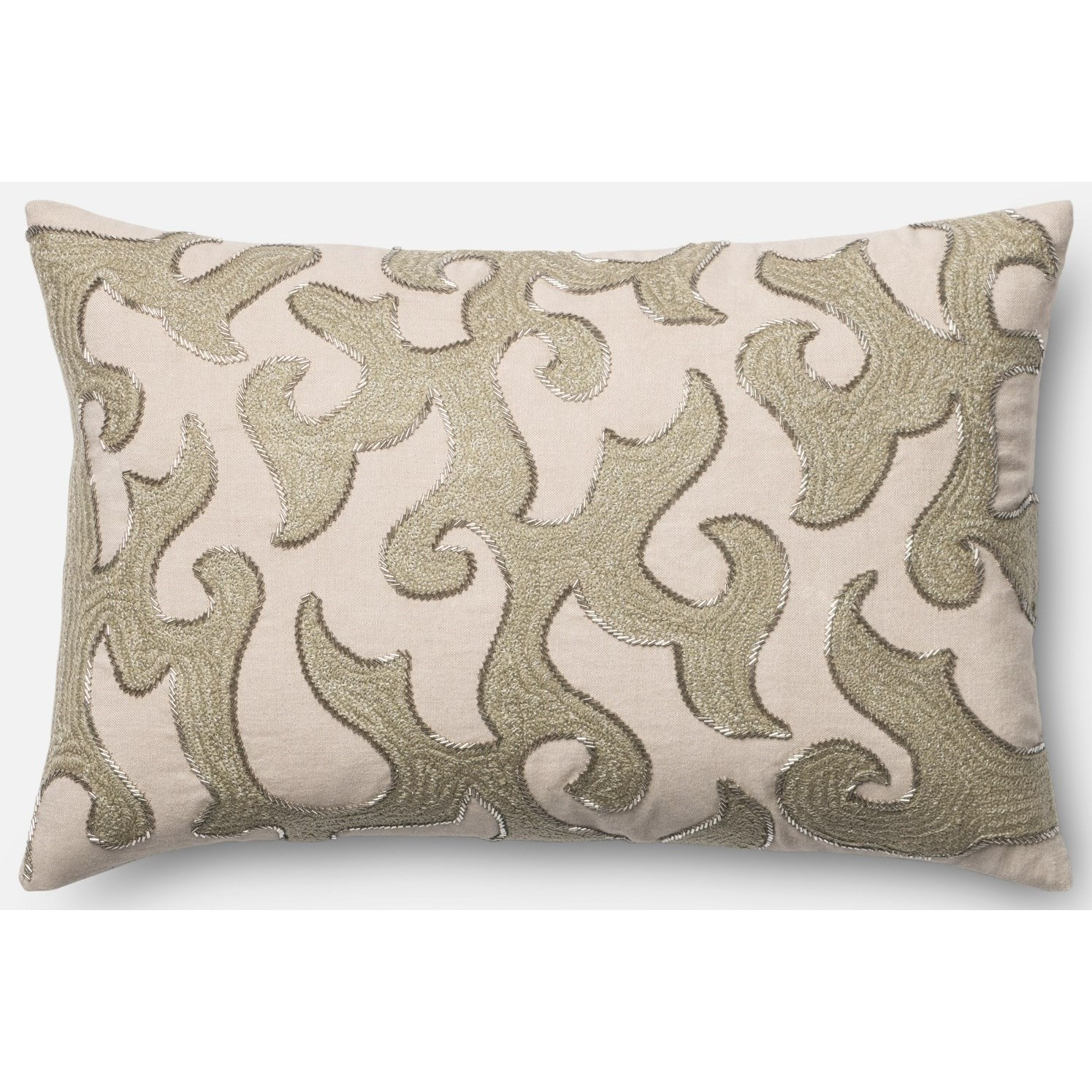 """Embroidery 13"""" X 21"""" Down Pillow by Loloi Rugs at Virginia Furniture Market"""