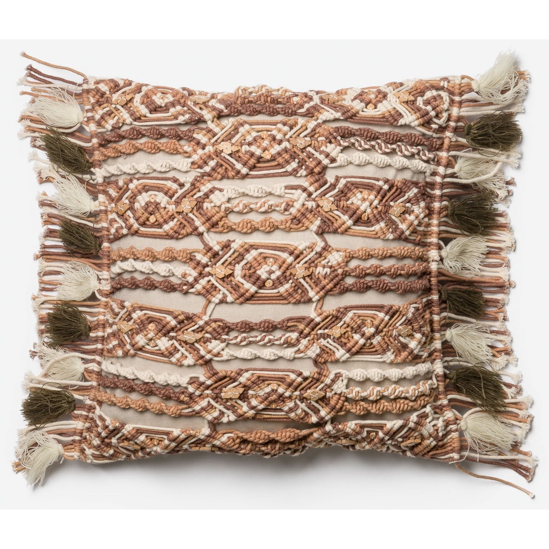 """Embroidery 18"""" X 18"""" Down Pillow by Loloi Rugs at Sprintz Furniture"""
