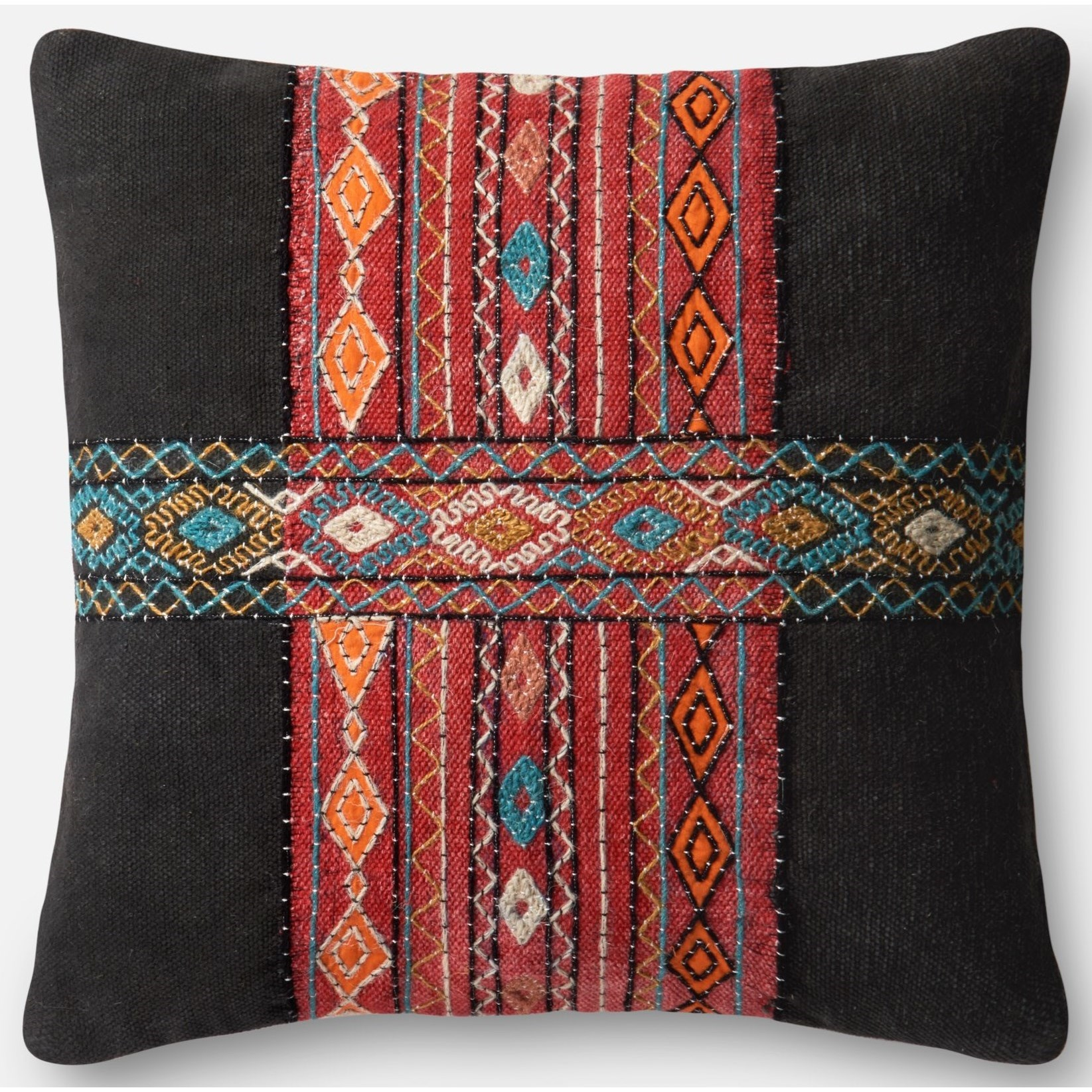 """Embroidery 22"""" X 22"""" Cover w/Poly by Loloi Rugs at Virginia Furniture Market"""