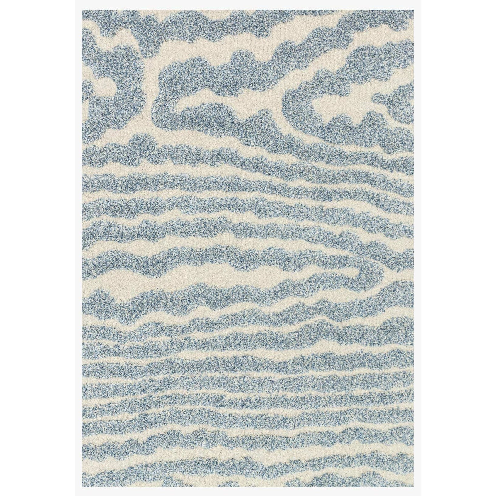 """Enchant 7'-7"""" X 10'-6"""" Ivory/Lt Blue Area Rug by Loloi Rugs at Virginia Furniture Market"""