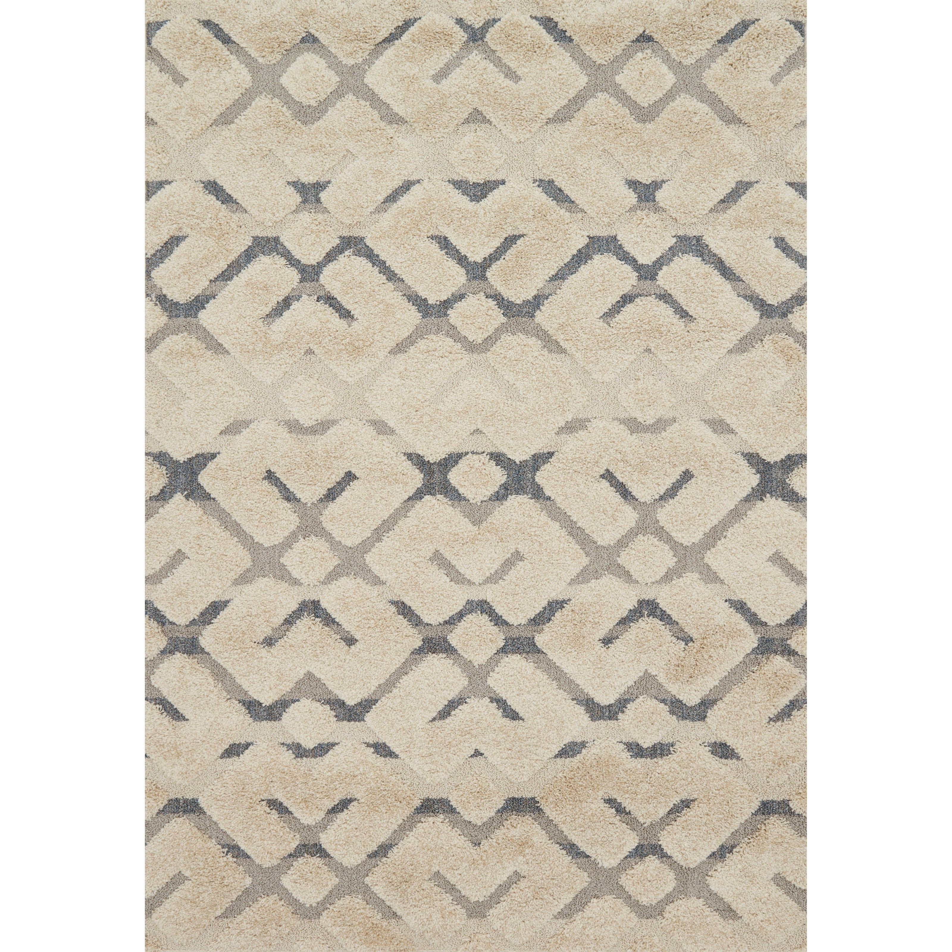 """Enchant 1'6"""" x 1'6""""  Sand / Multi Rug by Loloi Rugs at Virginia Furniture Market"""