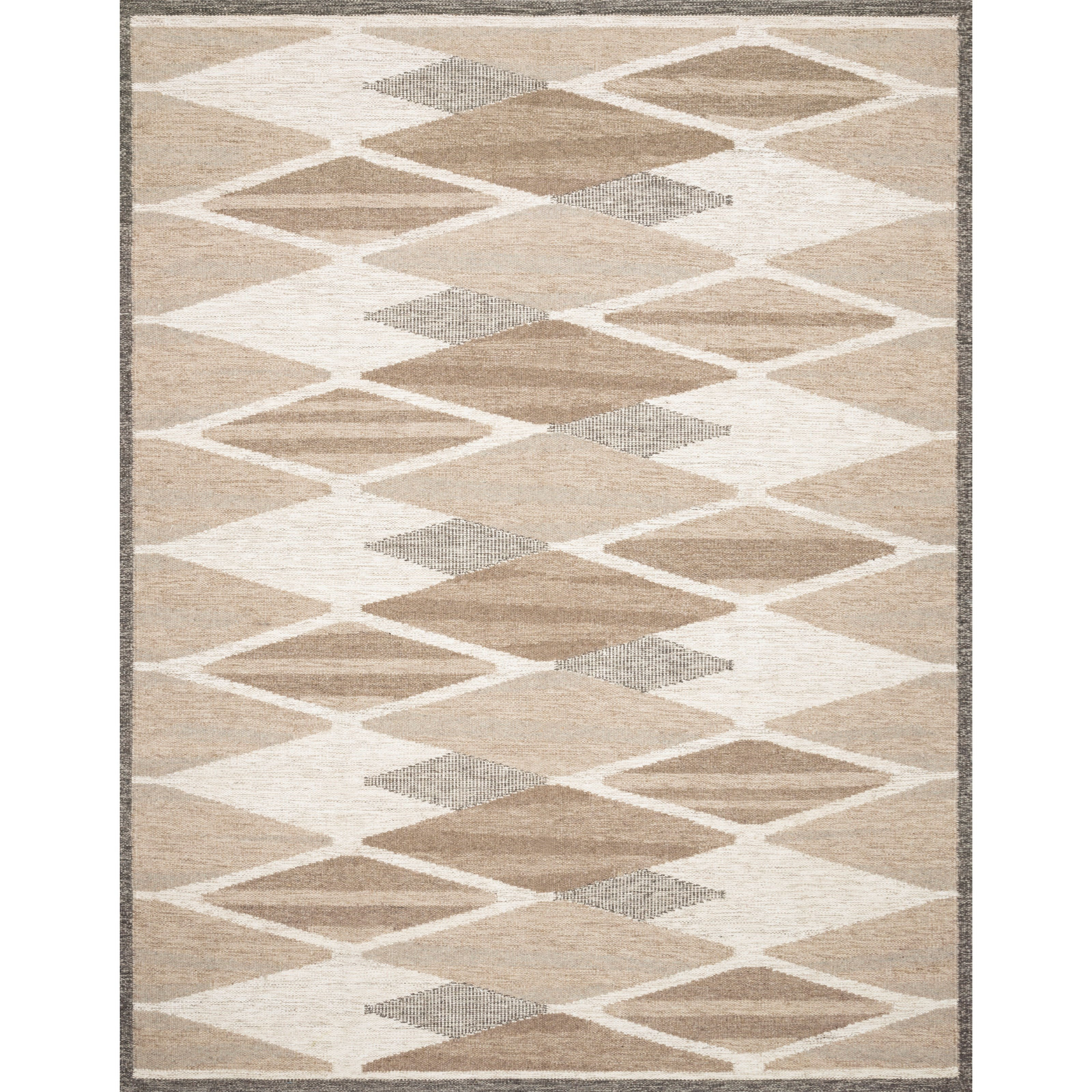 "Evelina 7'9"" x 9'9"" Taupe / Bark Rug by Loloi Rugs at Sprintz Furniture"