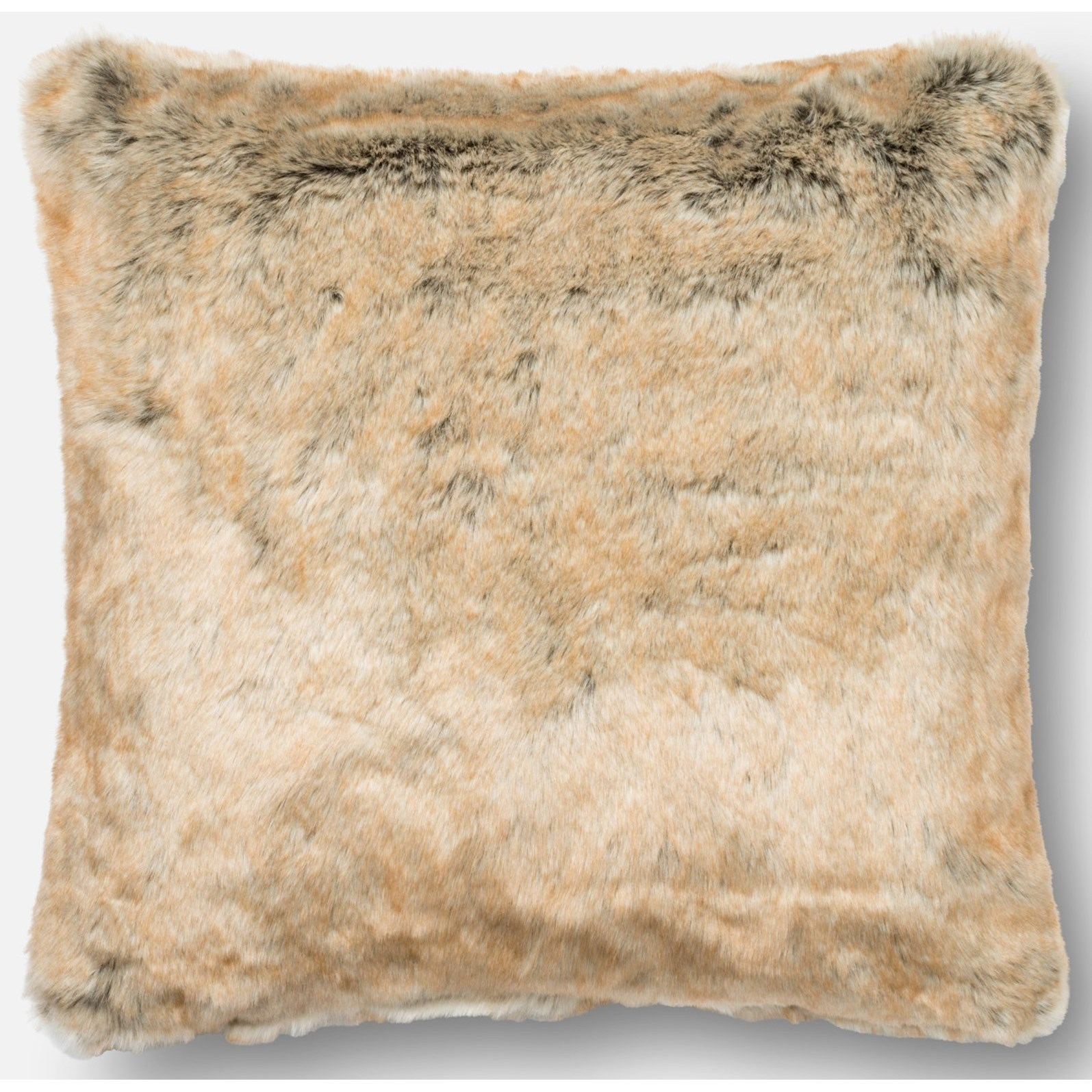 """Faux Fur 22"""" X 22"""" Down Pillow by Loloi Rugs at Virginia Furniture Market"""