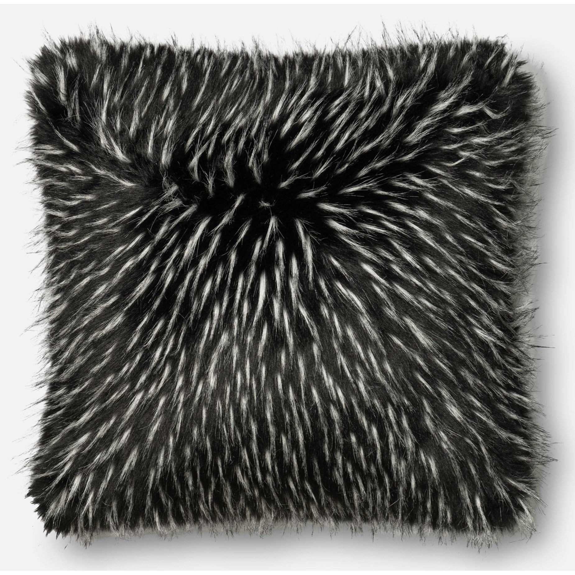 """Faux Fur 22"""" X 22"""" Cover w/Poly by Loloi Rugs at Virginia Furniture Market"""