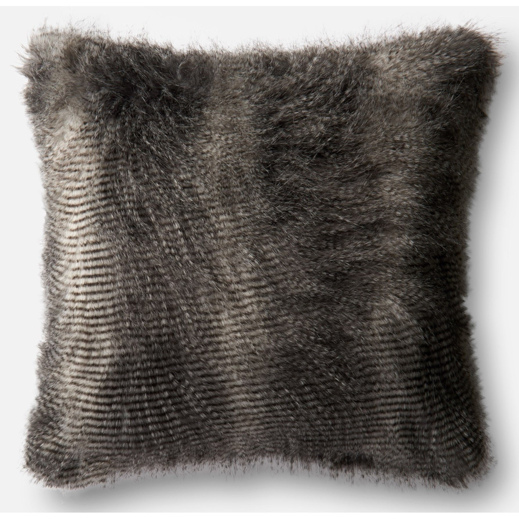 "Faux Fur 22"" X 22"" Cover w/Poly by Loloi Rugs at Sprintz Furniture"