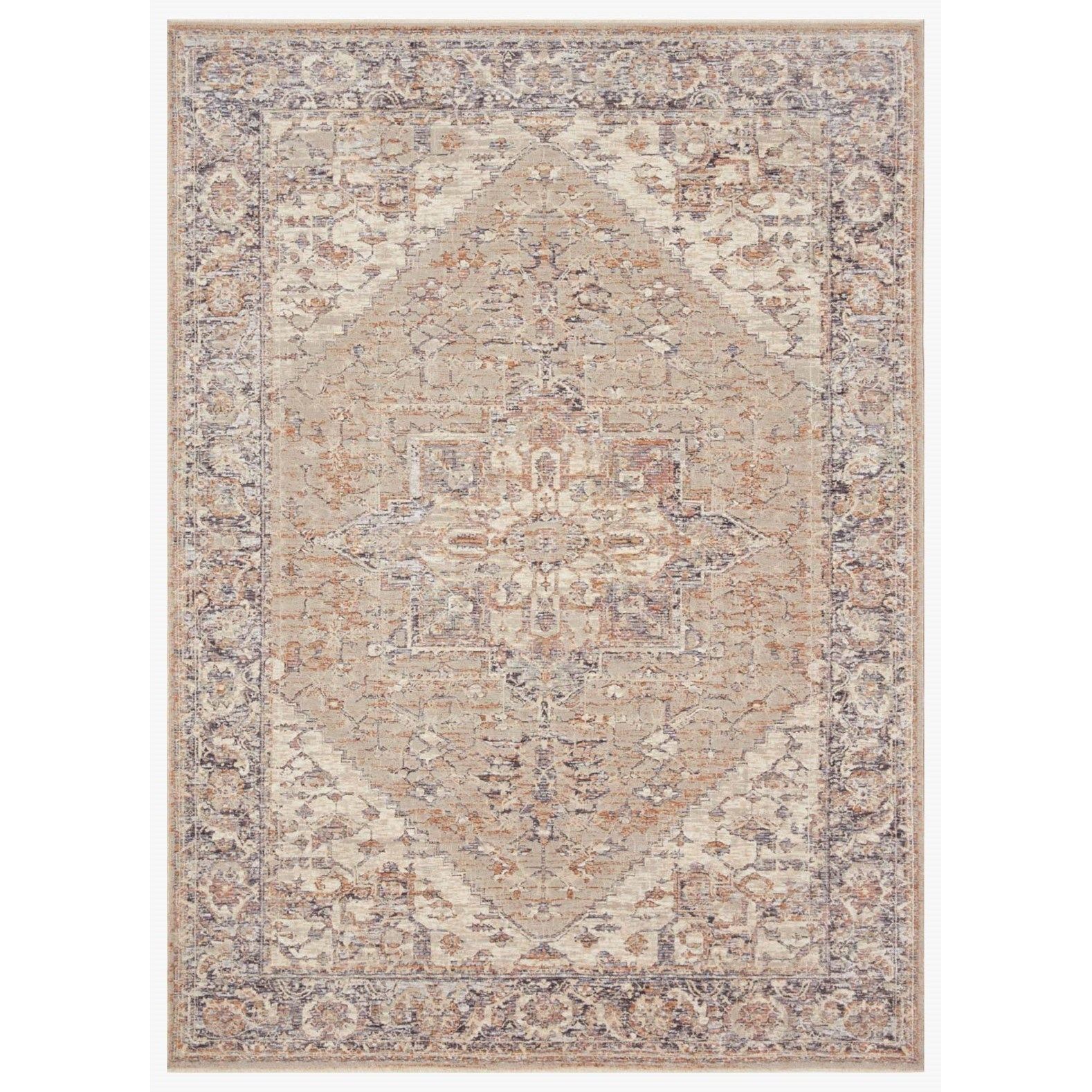 """Faye 11'6"""" x 15'7"""" Taupe / Denim Rug by Loloi Rugs at Virginia Furniture Market"""