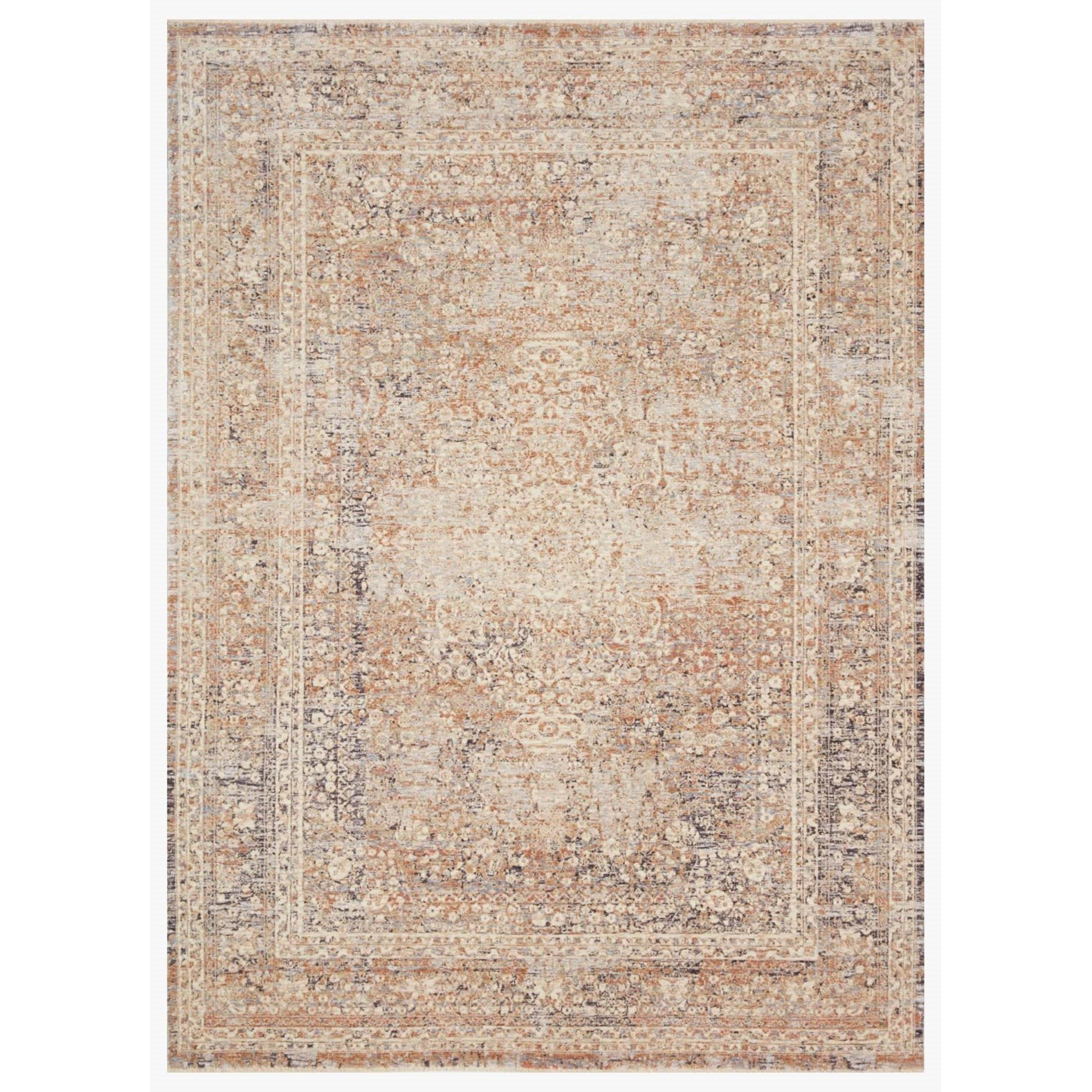 """Faye 18"""" x 18""""  Sky / Sand Rug by Loloi Rugs at Virginia Furniture Market"""