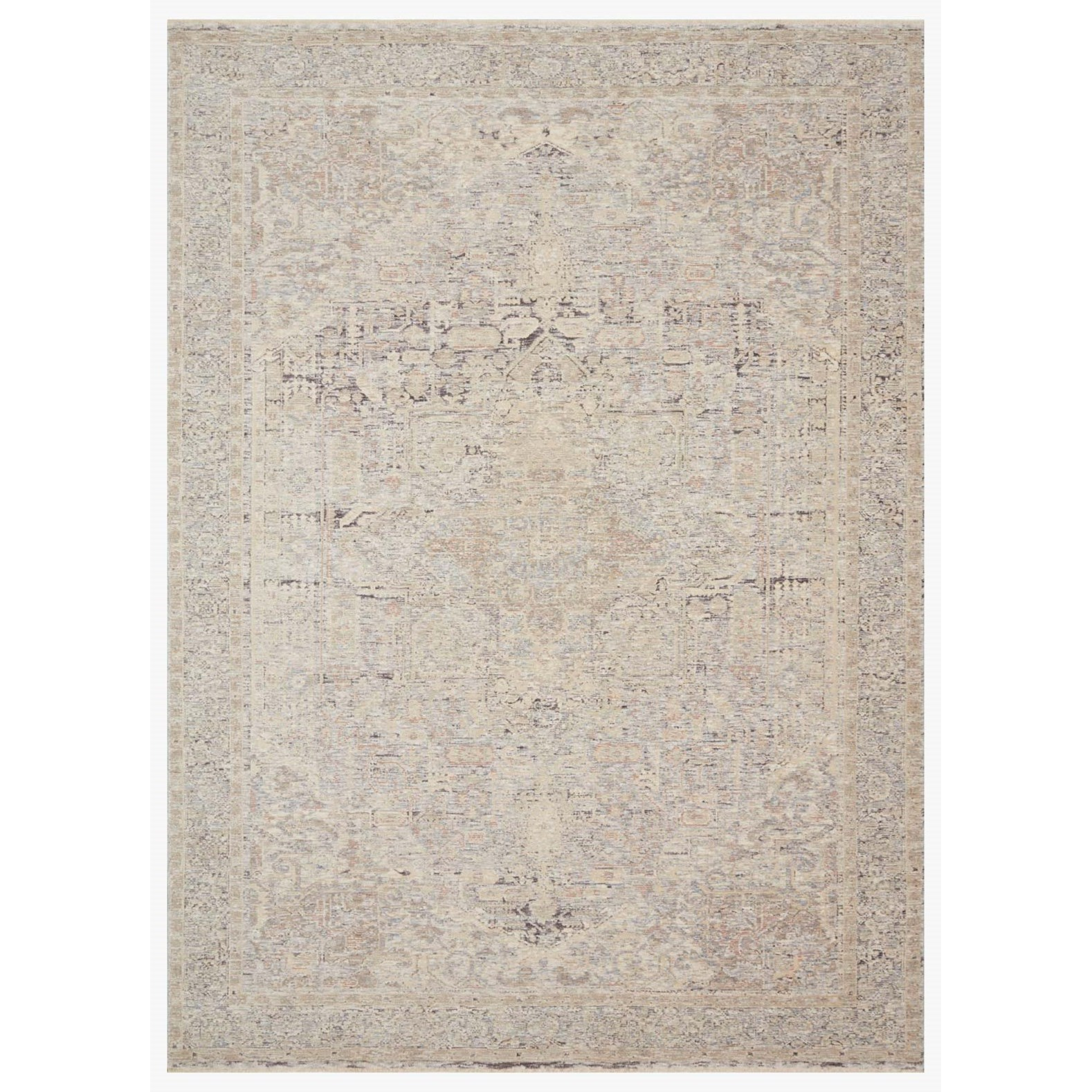 """Faye 7'10"""" x 10' Ivory / Multi Rug by Loloi Rugs at Virginia Furniture Market"""