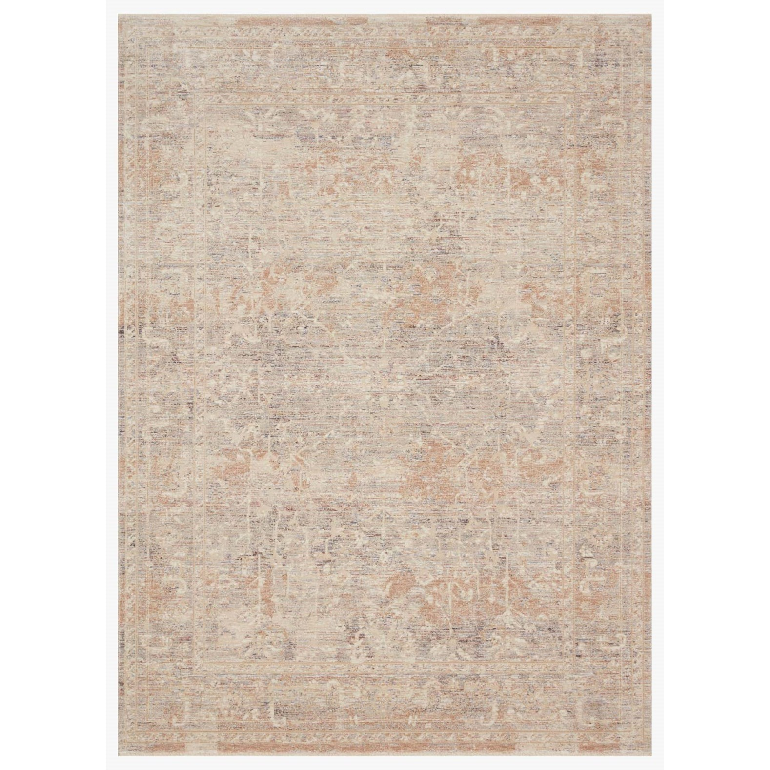 """Faye 5'3"""" x 7'9"""" Beige / Blue Rug by Loloi Rugs at Virginia Furniture Market"""