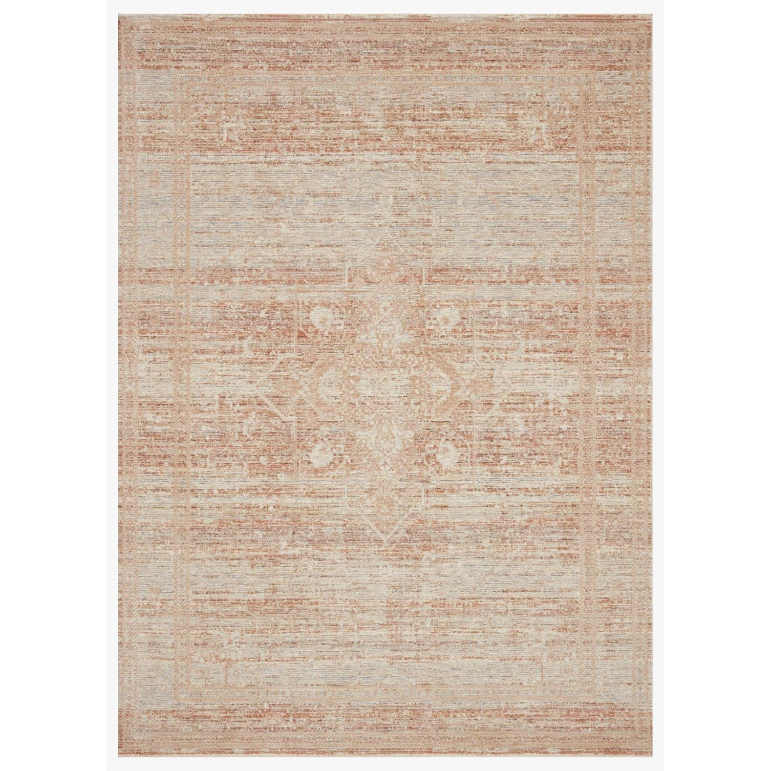 """Faye 2'7"""" x 12'0"""" Terracotta / Sky Rug by Loloi Rugs at Virginia Furniture Market"""