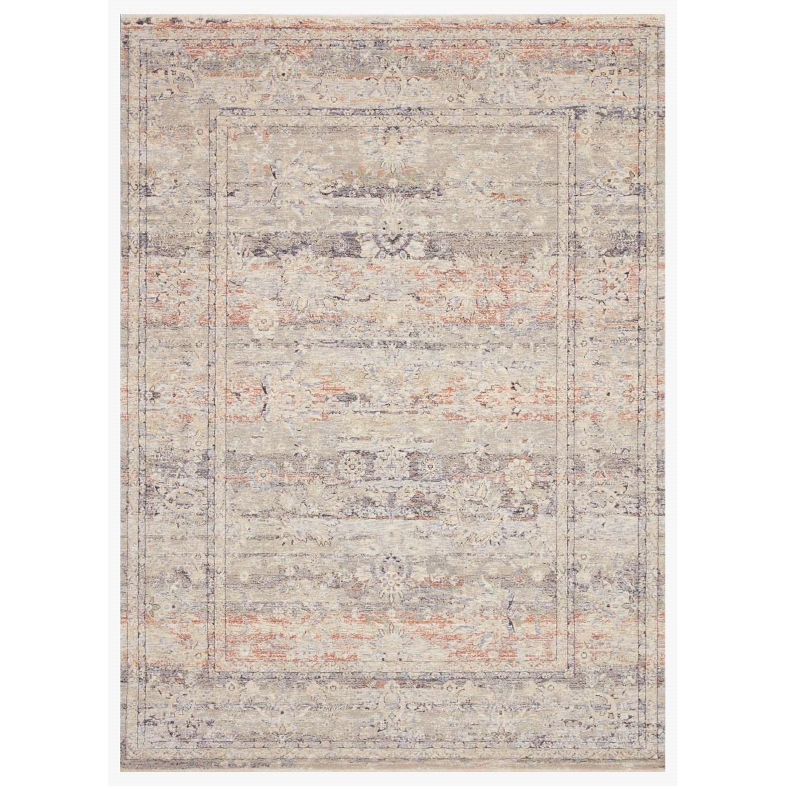 "Faye 11'6"" x 15'7"" Denim / Rust Rug by Loloi Rugs at Virginia Furniture Market"