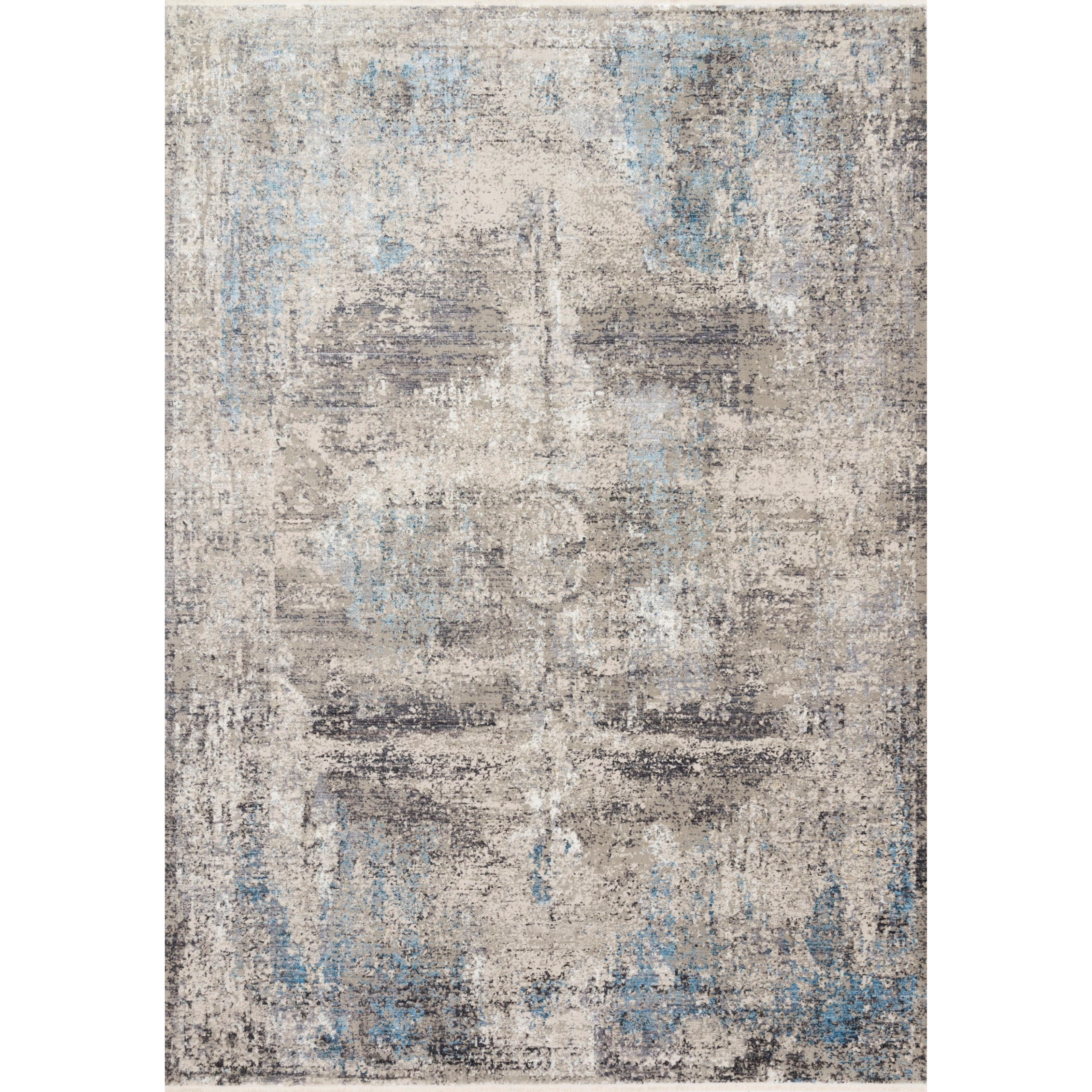 "Franca 7'10"" x 10'2"" Slate / Sky Rug by Loloi Rugs at Pedigo Furniture"