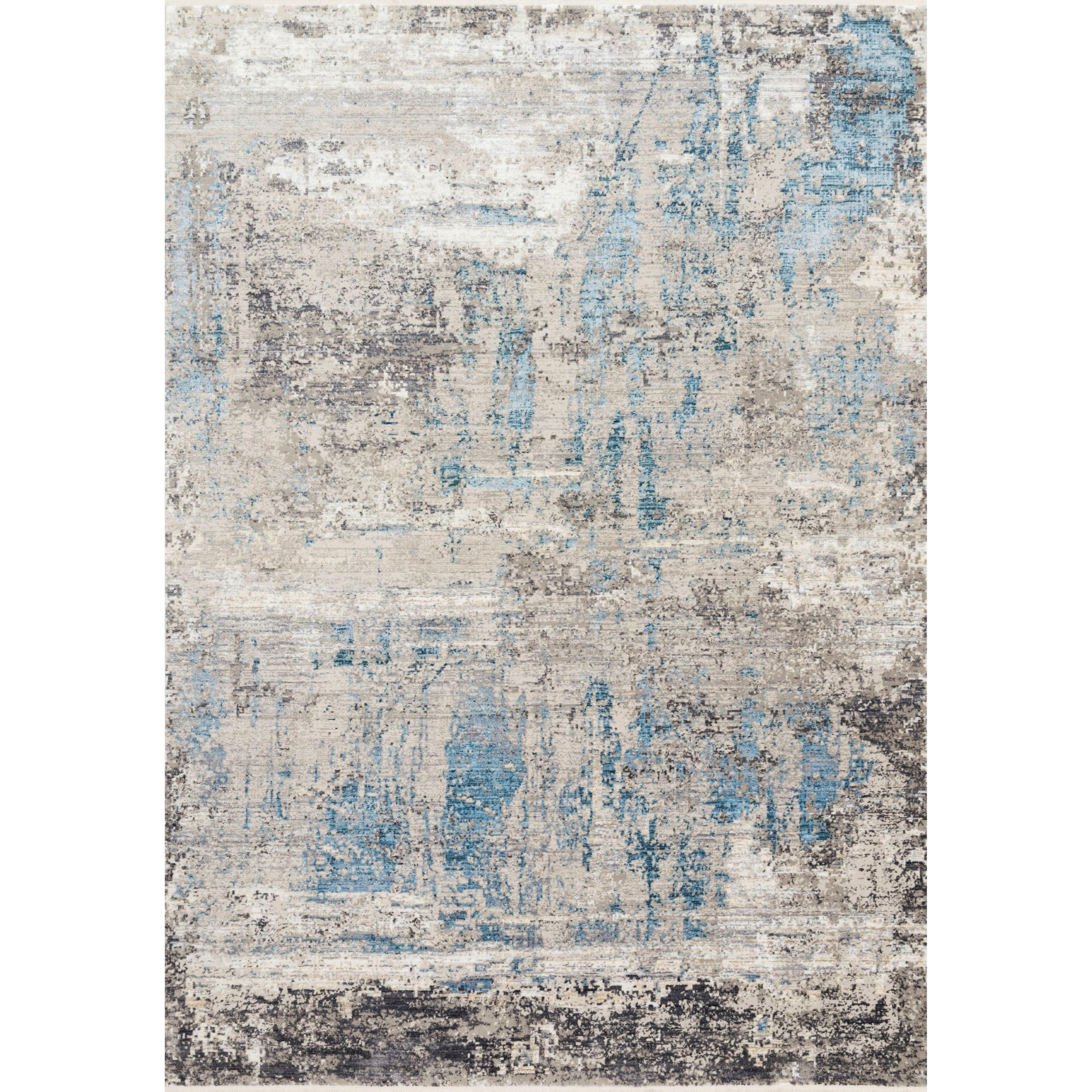 "Franca 7'10"" x 10'2"" Grey / Ocean Rug by Loloi Rugs at Virginia Furniture Market"