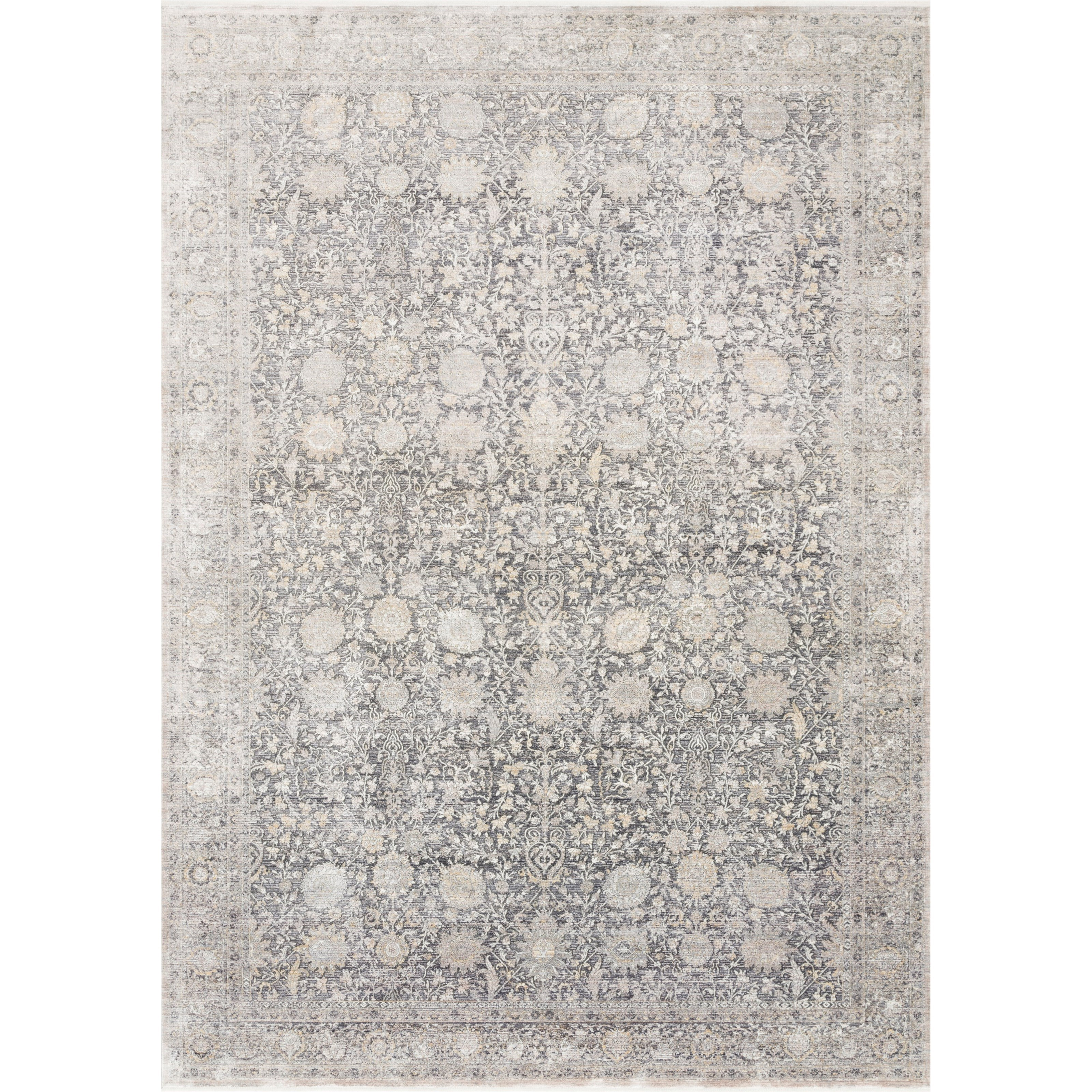 """Gemma 9'6"""" x 12'6"""" Charcoal / Sand Rug by Loloi Rugs at Virginia Furniture Market"""