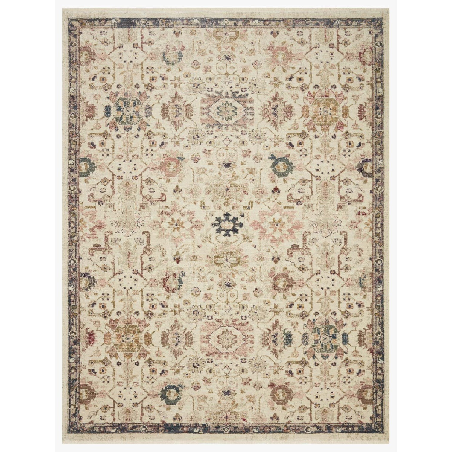 "Giada 3'7"" x 5'7"" Ivory / Multi Rug by Loloi Rugs at Sprintz Furniture"
