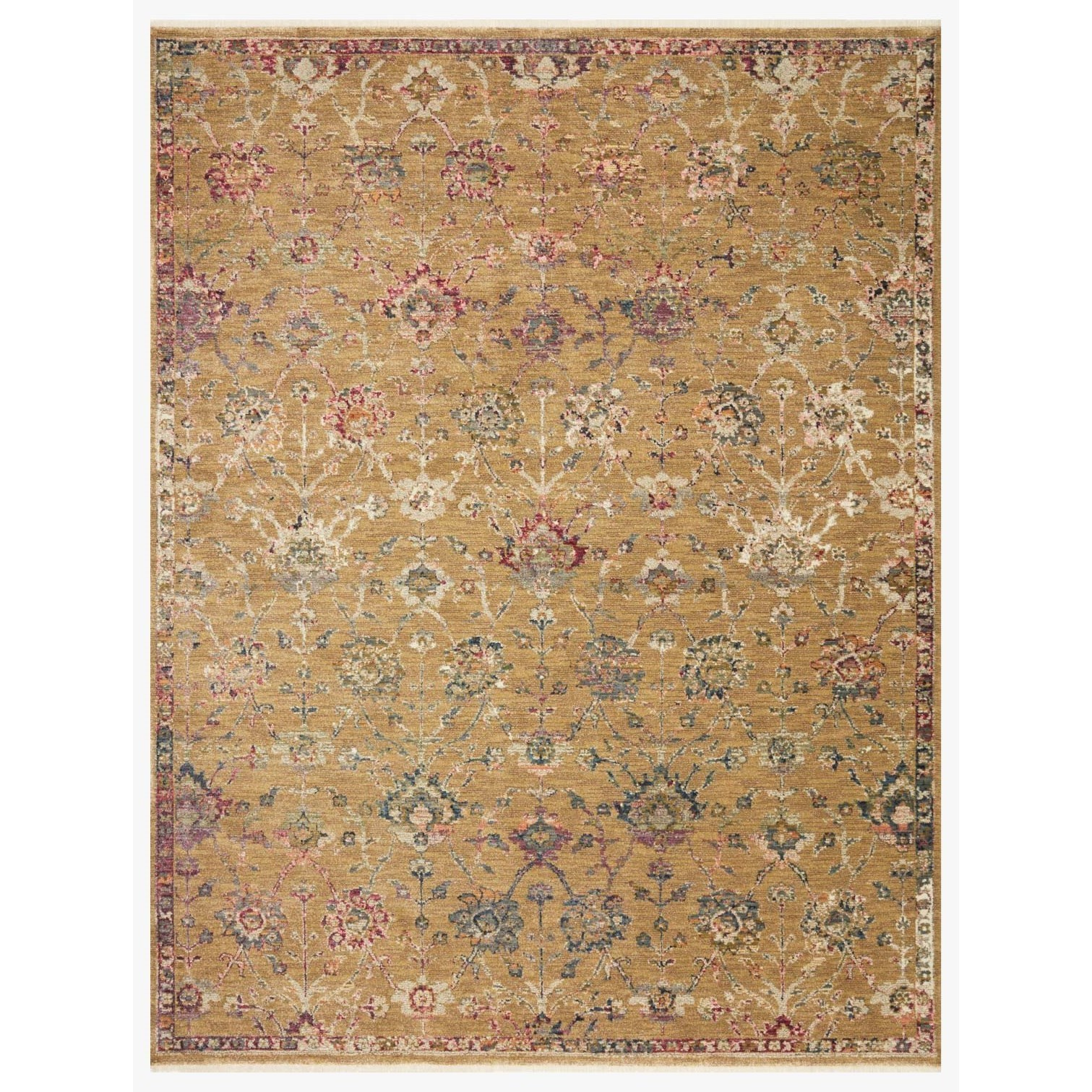"Giada 9'0"" x 12'0"" Gold / Multi Rug by Loloi Rugs at Virginia Furniture Market"