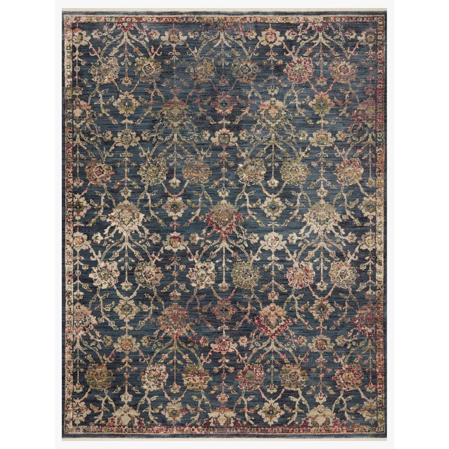 "Giada 7'10"" x 10' Navy / Multi Rug by Loloi Rugs at Virginia Furniture Market"