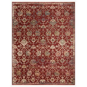 """2'7"""" x 12'0"""" Red / Multi Rug"""