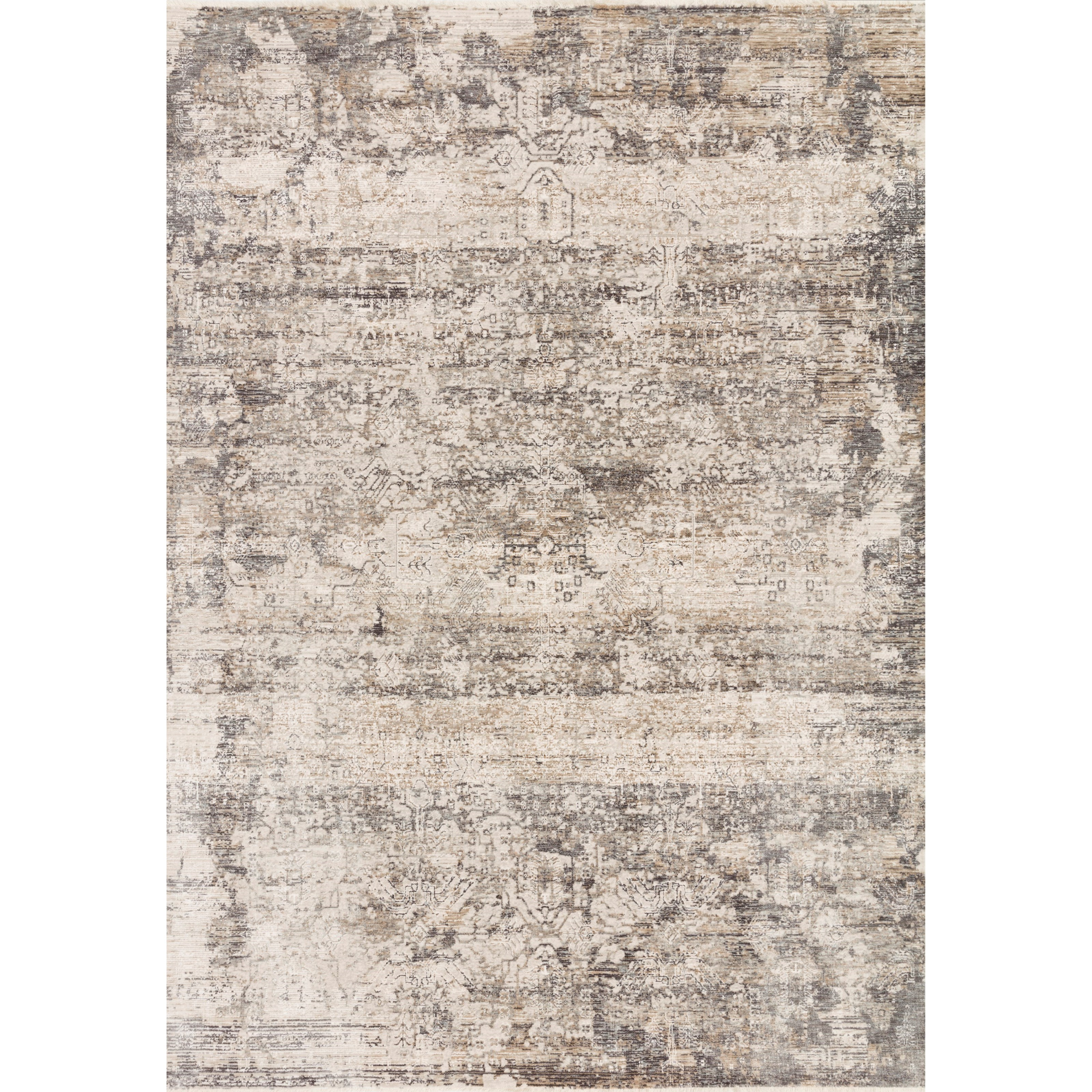 """Homage 9'6"""" x 12'5"""" Graphite / Beige Rug by Loloi Rugs at Virginia Furniture Market"""