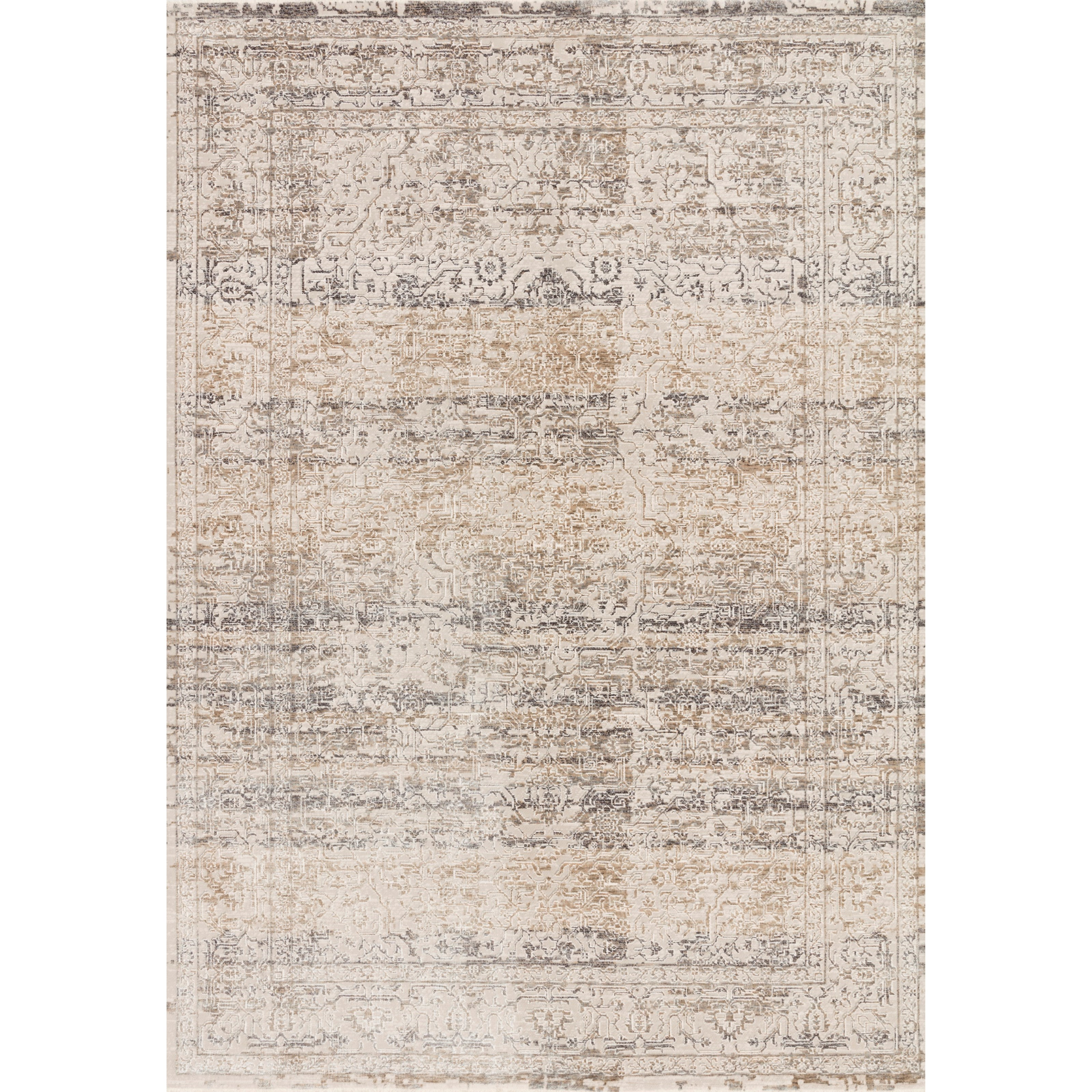 """Homage 3'9"""" x 5'9"""" Beige / Grey Rug by Loloi Rugs at Virginia Furniture Market"""