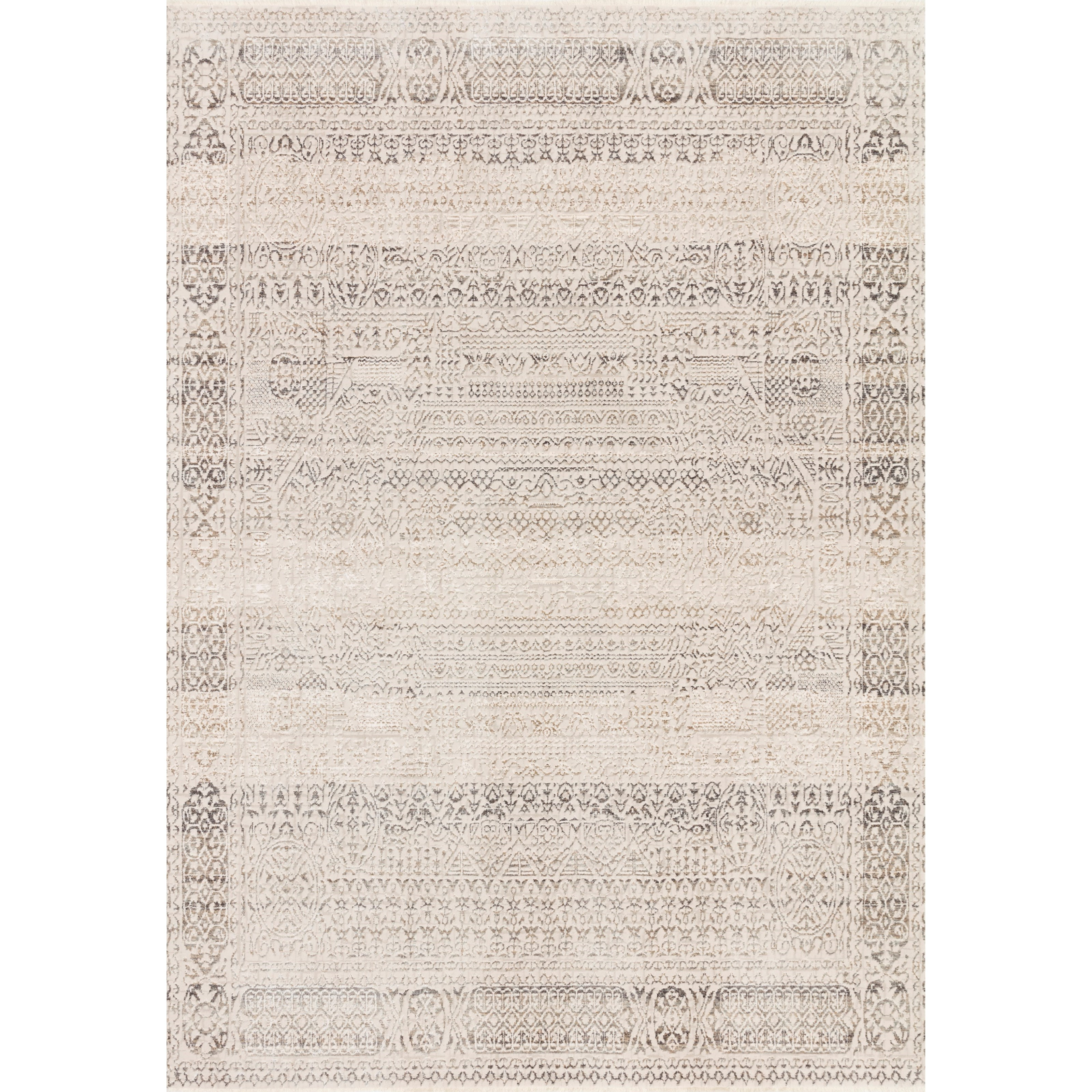 """Homage 2'6"""" x 16'0"""" Ivory / Silver Rug by Loloi Rugs at Virginia Furniture Market"""
