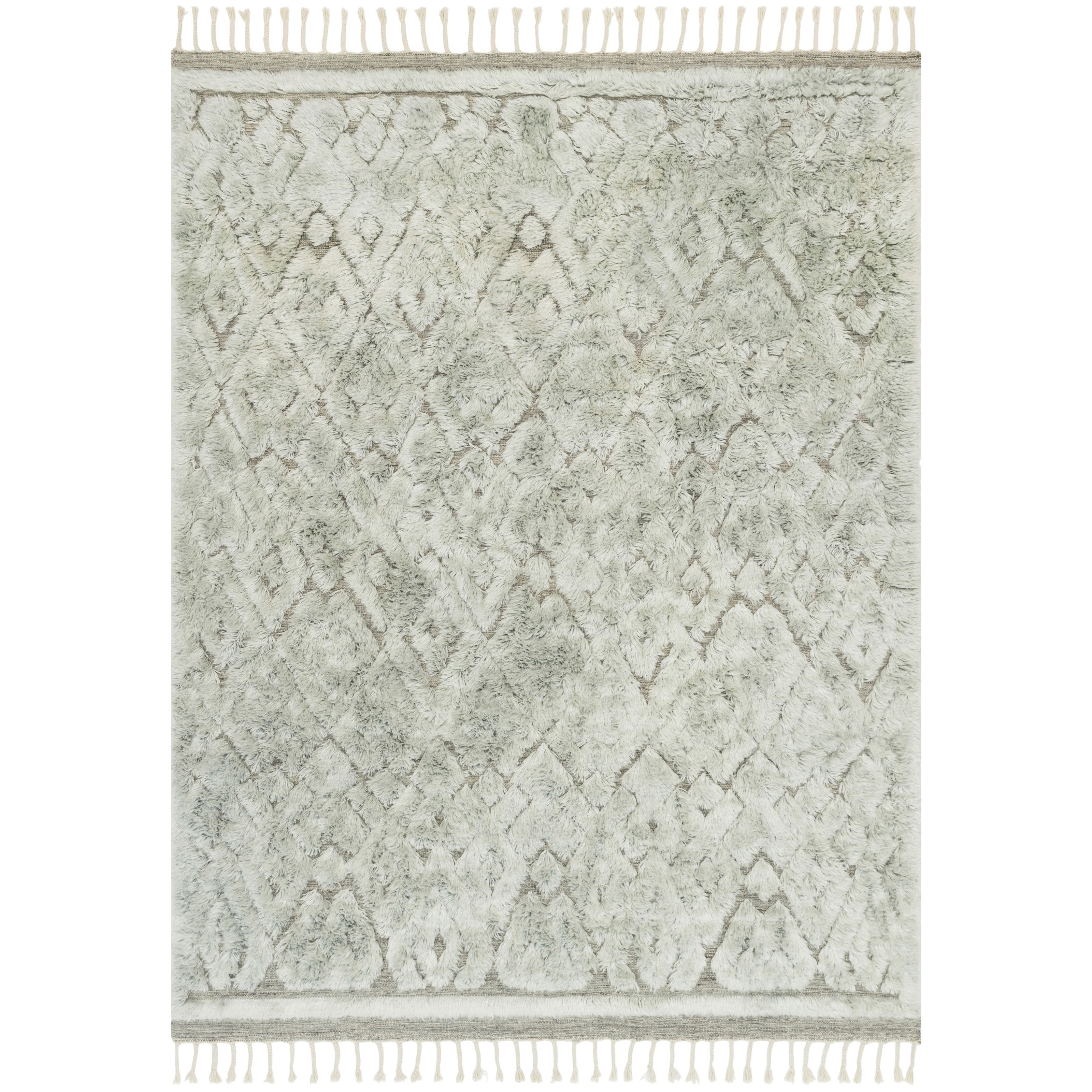 """Hygge 7'9"""" x 9'9"""" Grey / Mist Rug by Loloi Rugs at Virginia Furniture Market"""