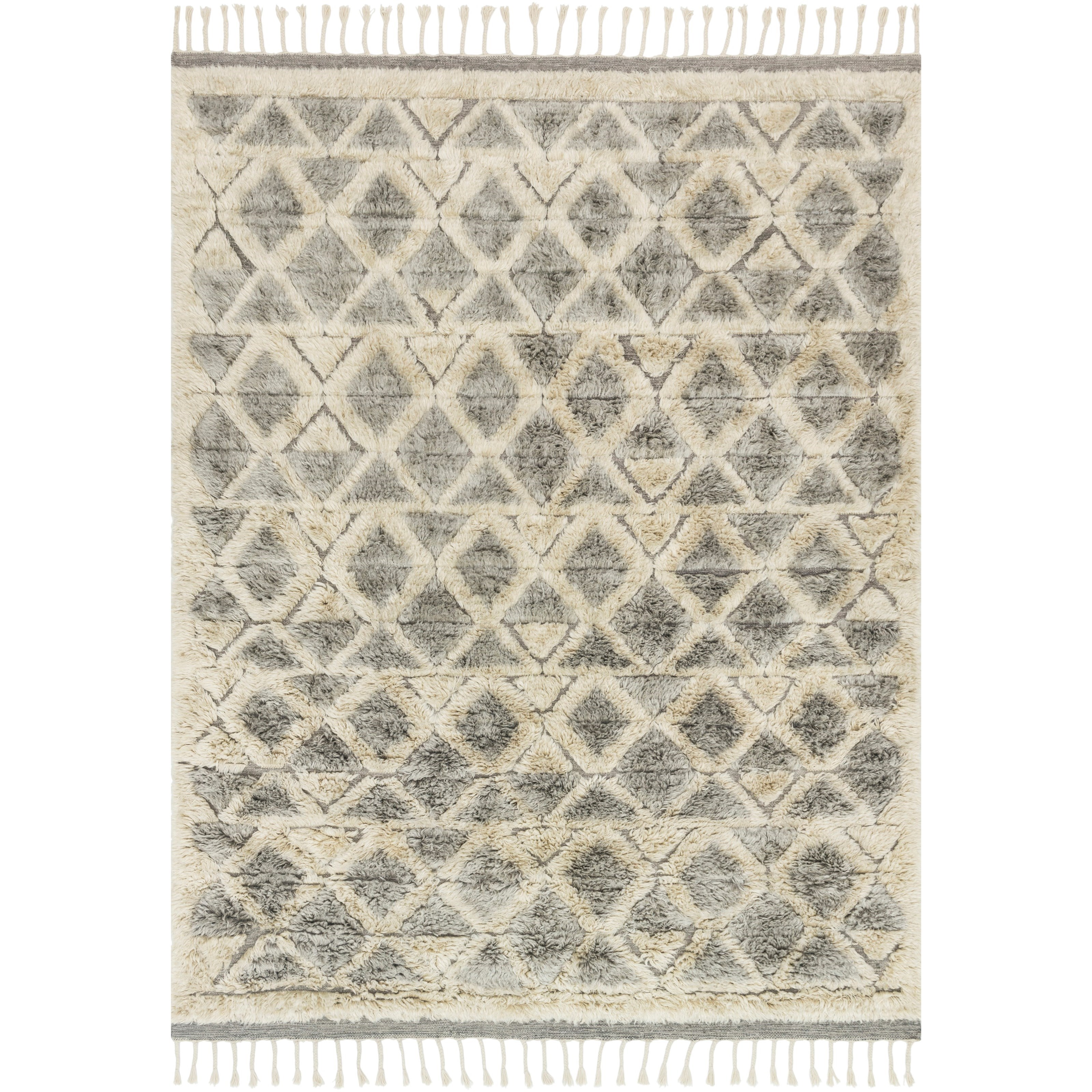 """Hygge 9'6"""" x 13'6"""" Smoke / Taupe Rug by Loloi Rugs at Virginia Furniture Market"""