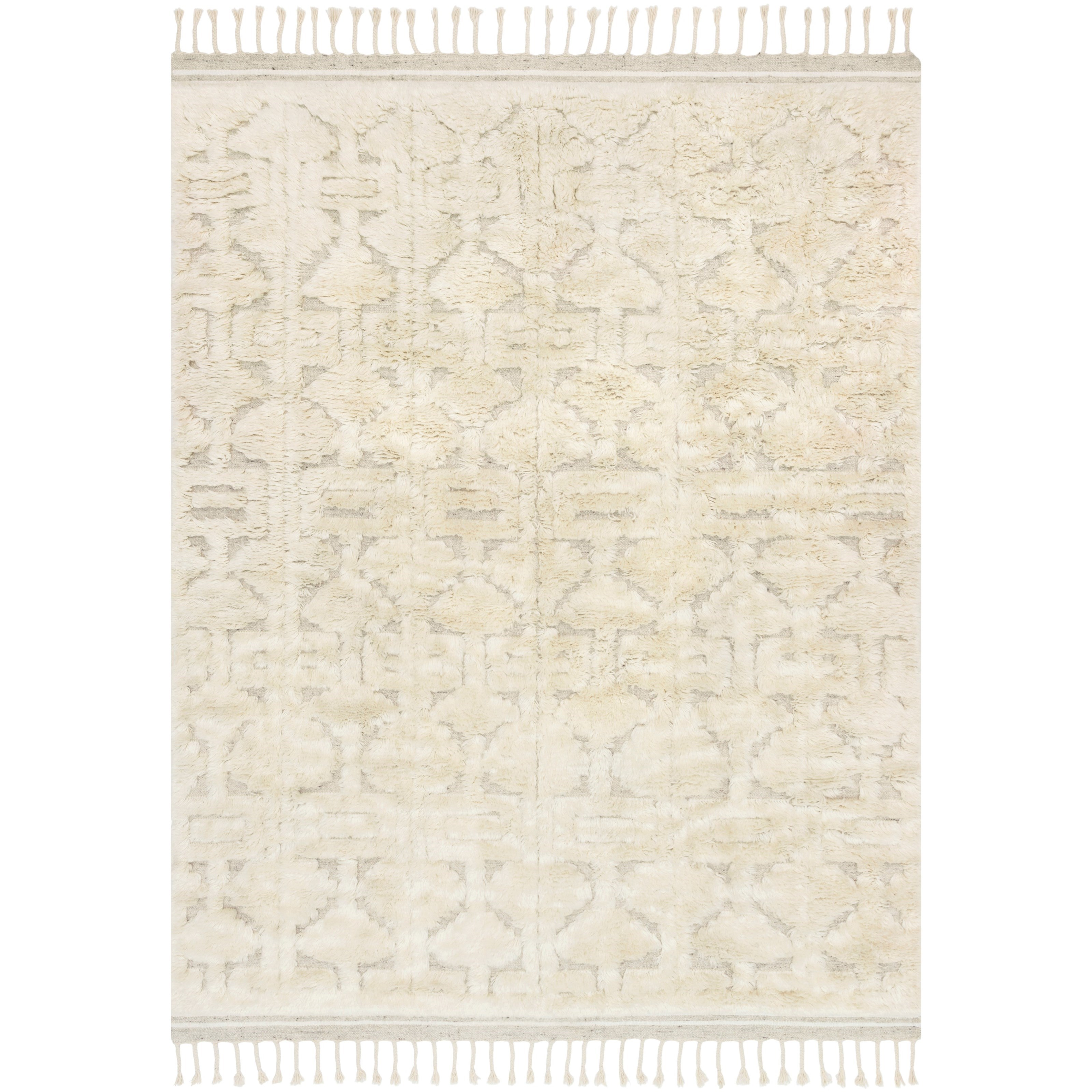 """Hygge 5'6"""" x 8'6"""" Oatmeal / Ivory Rug by Loloi Rugs at Virginia Furniture Market"""