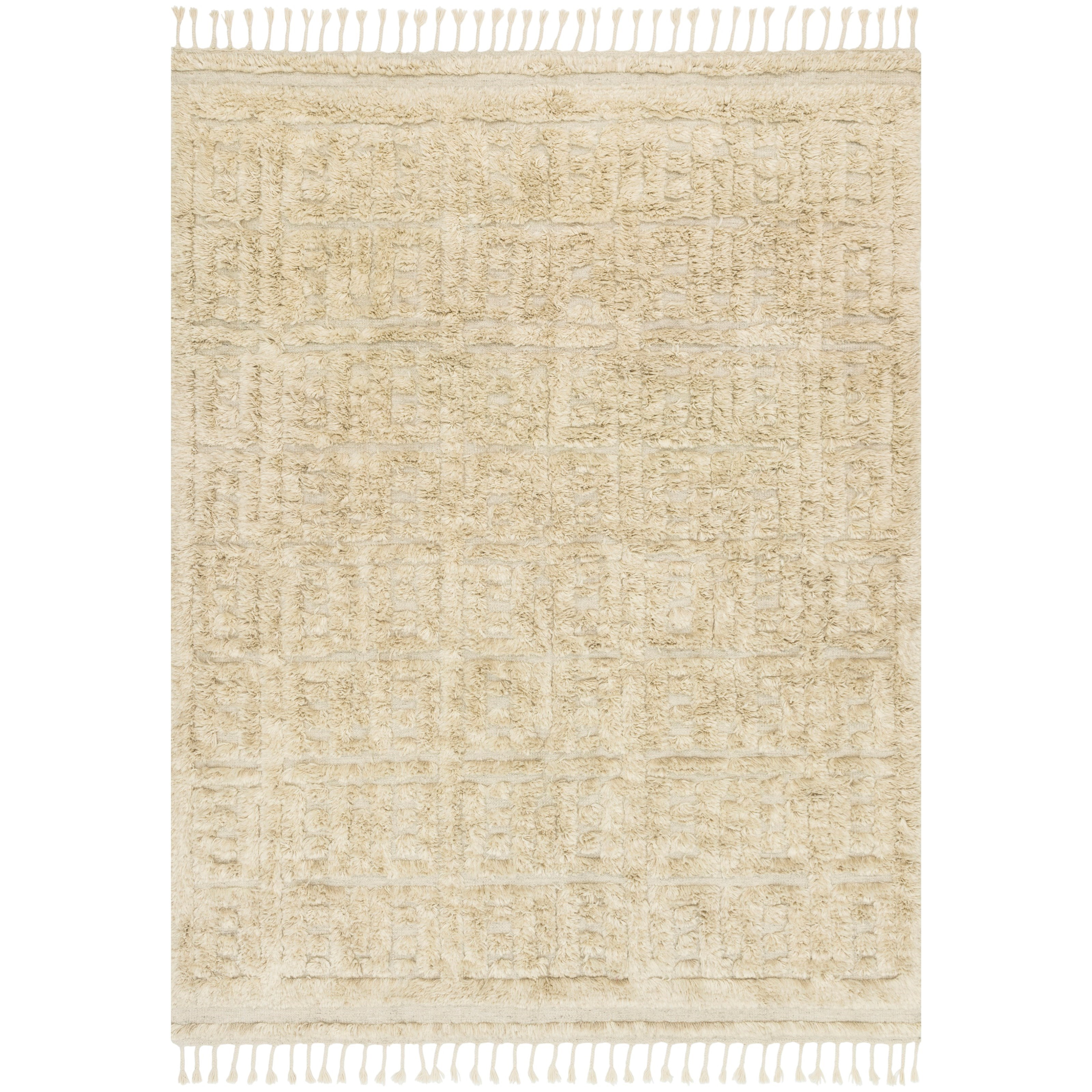 """Hygge 9'6"""" x 13'6"""" Oatmeal / Sand Rug by Loloi Rugs at Virginia Furniture Market"""