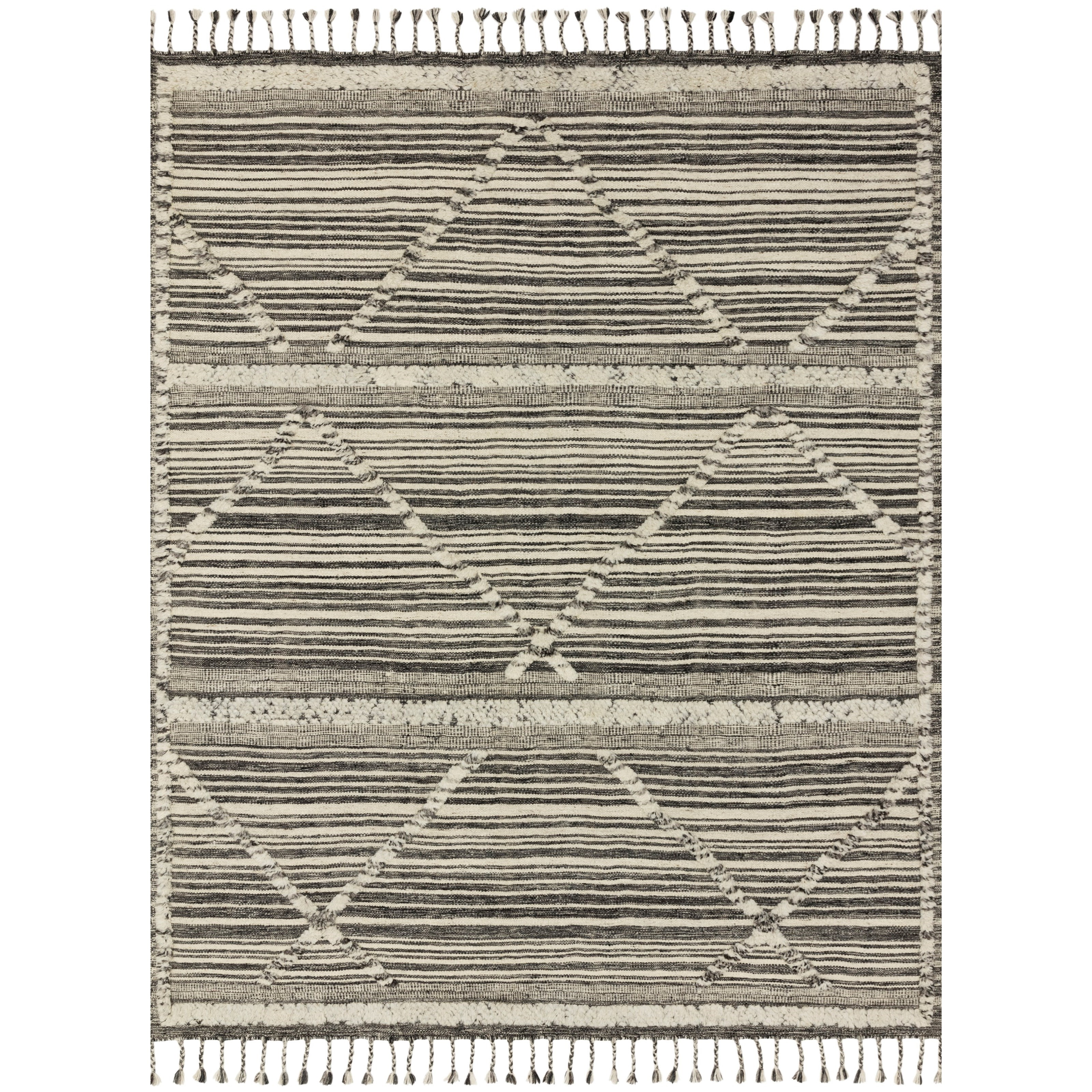 """Iman 2'0"""" x 3'0"""" Ivory / Charcoal Rug by Loloi Rugs at Virginia Furniture Market"""